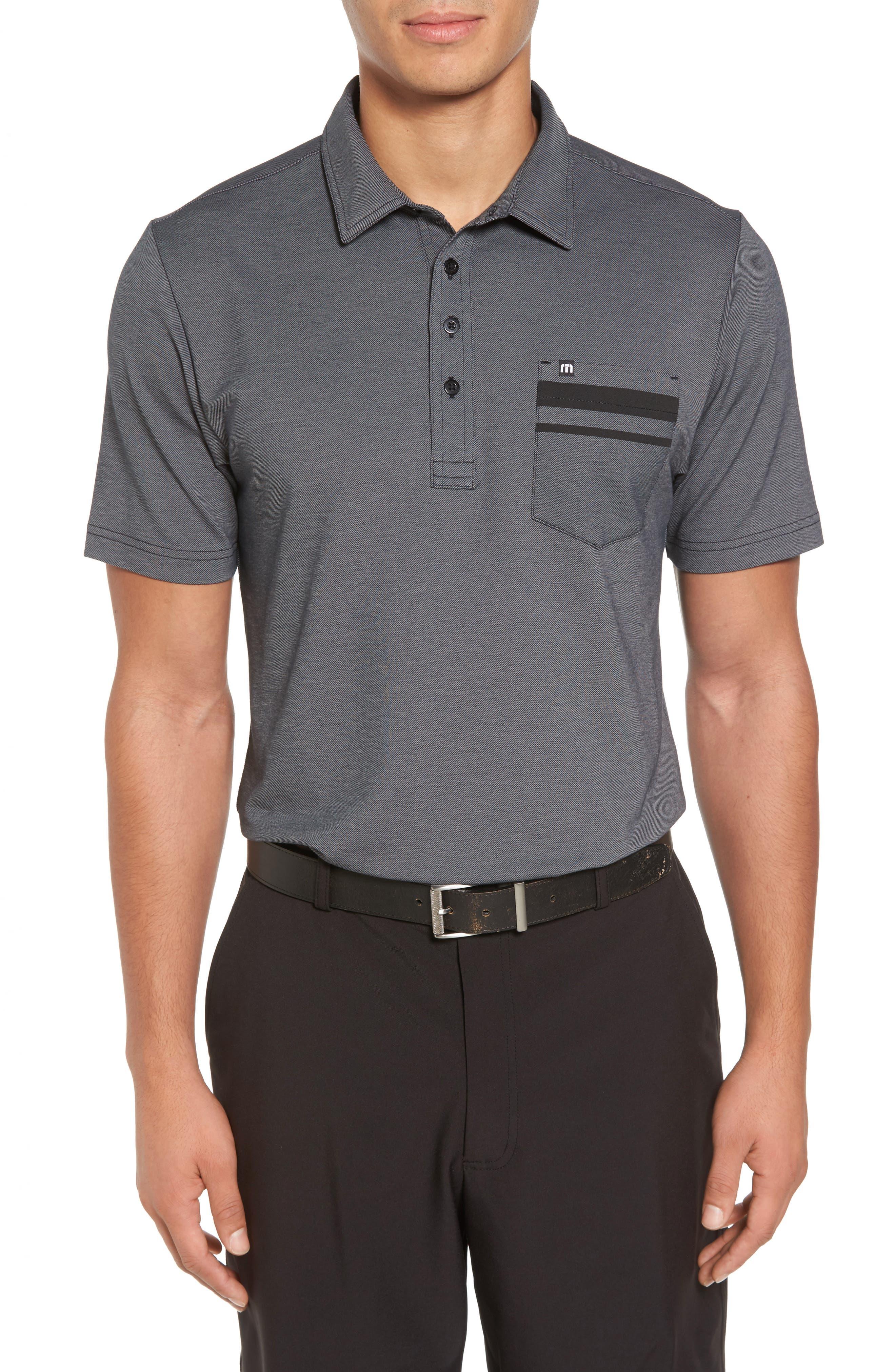 Hammond Piqué Polo,                         Main,                         color, Black/ Sharkskin