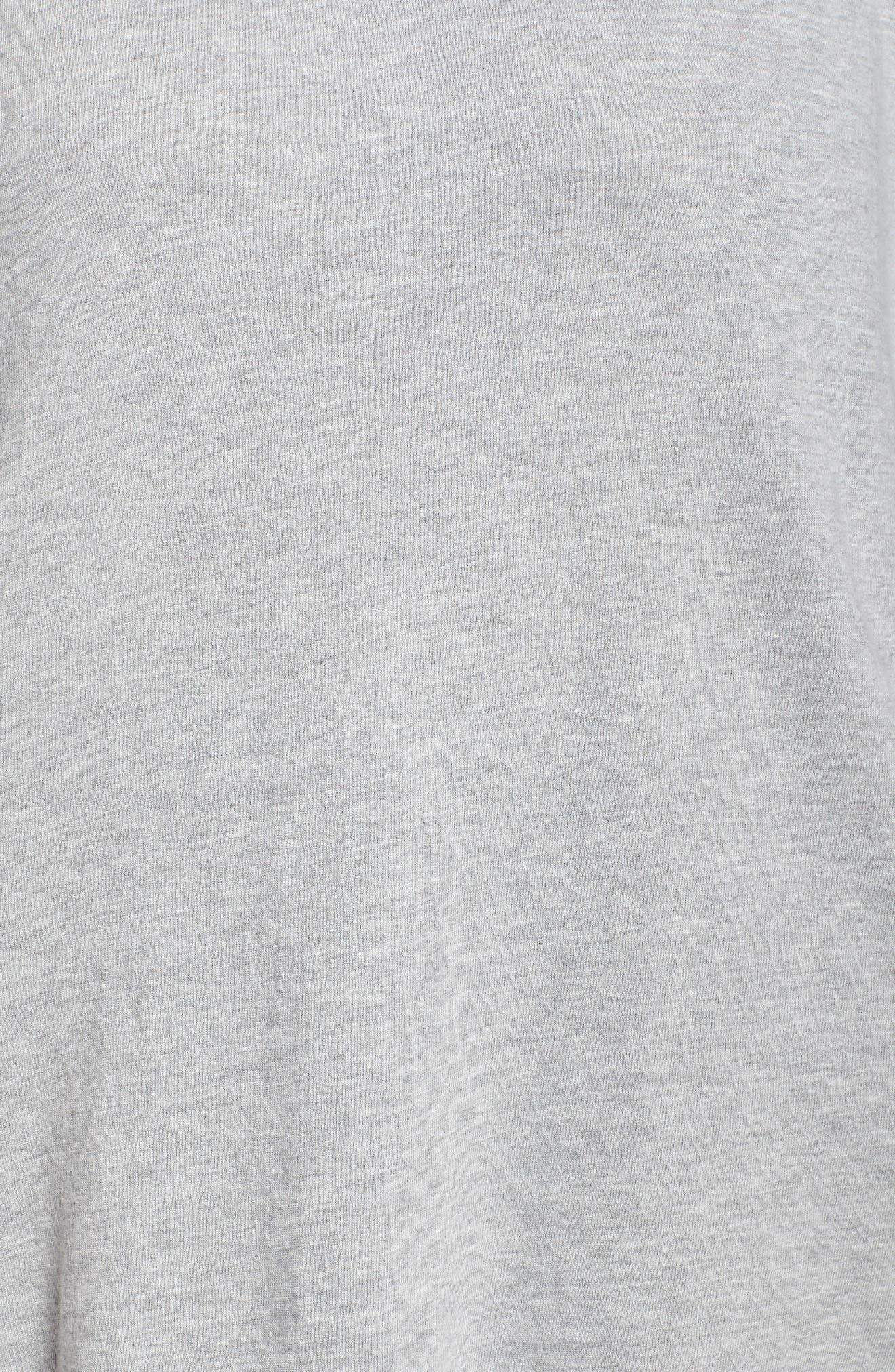 Lace-Up Side Sweatshirt,                             Alternate thumbnail 4, color,                             Grey Heather