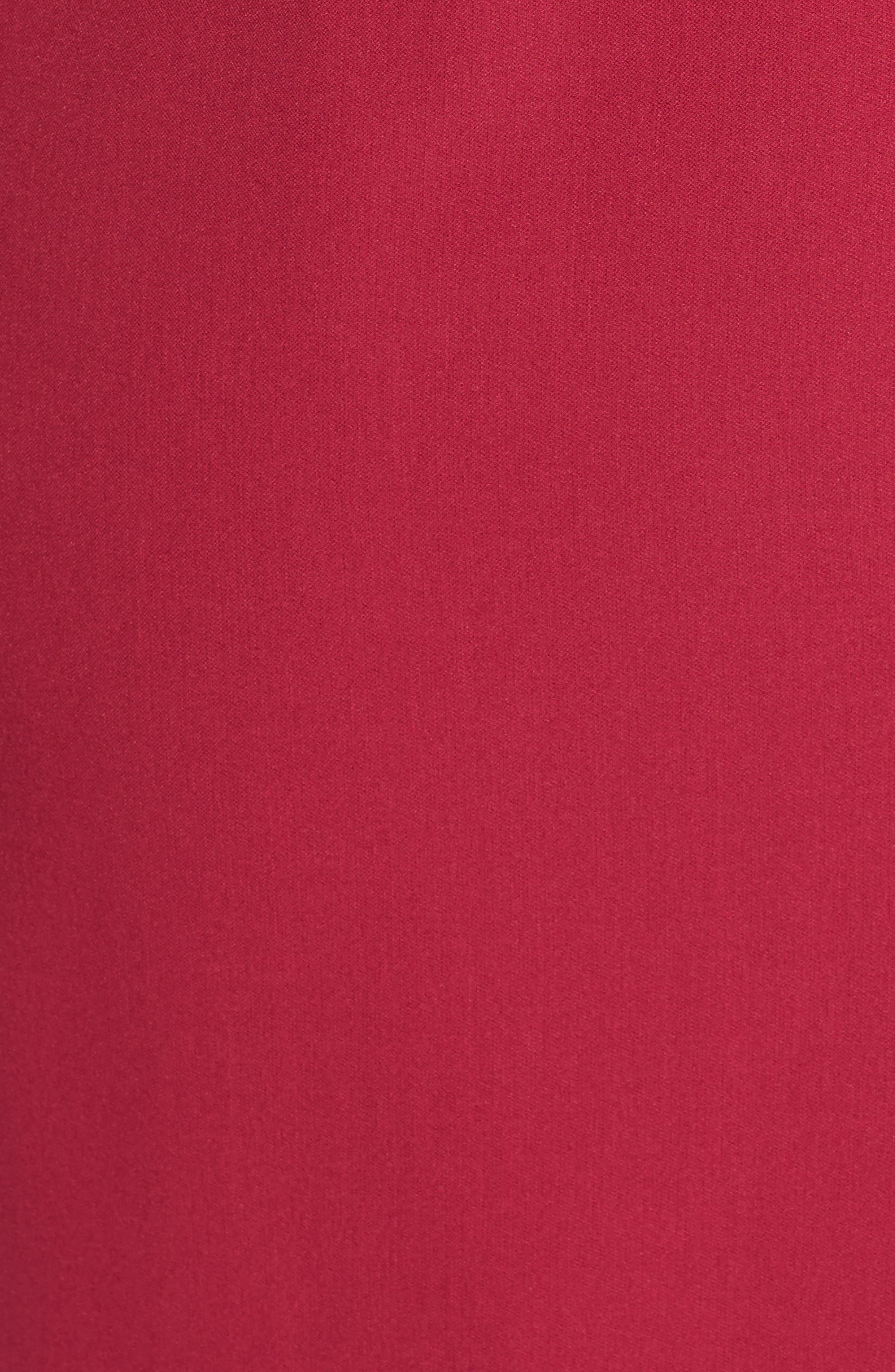 Stretch Crepe V-Neck Sheath,                             Alternate thumbnail 5, color,                             Geranium