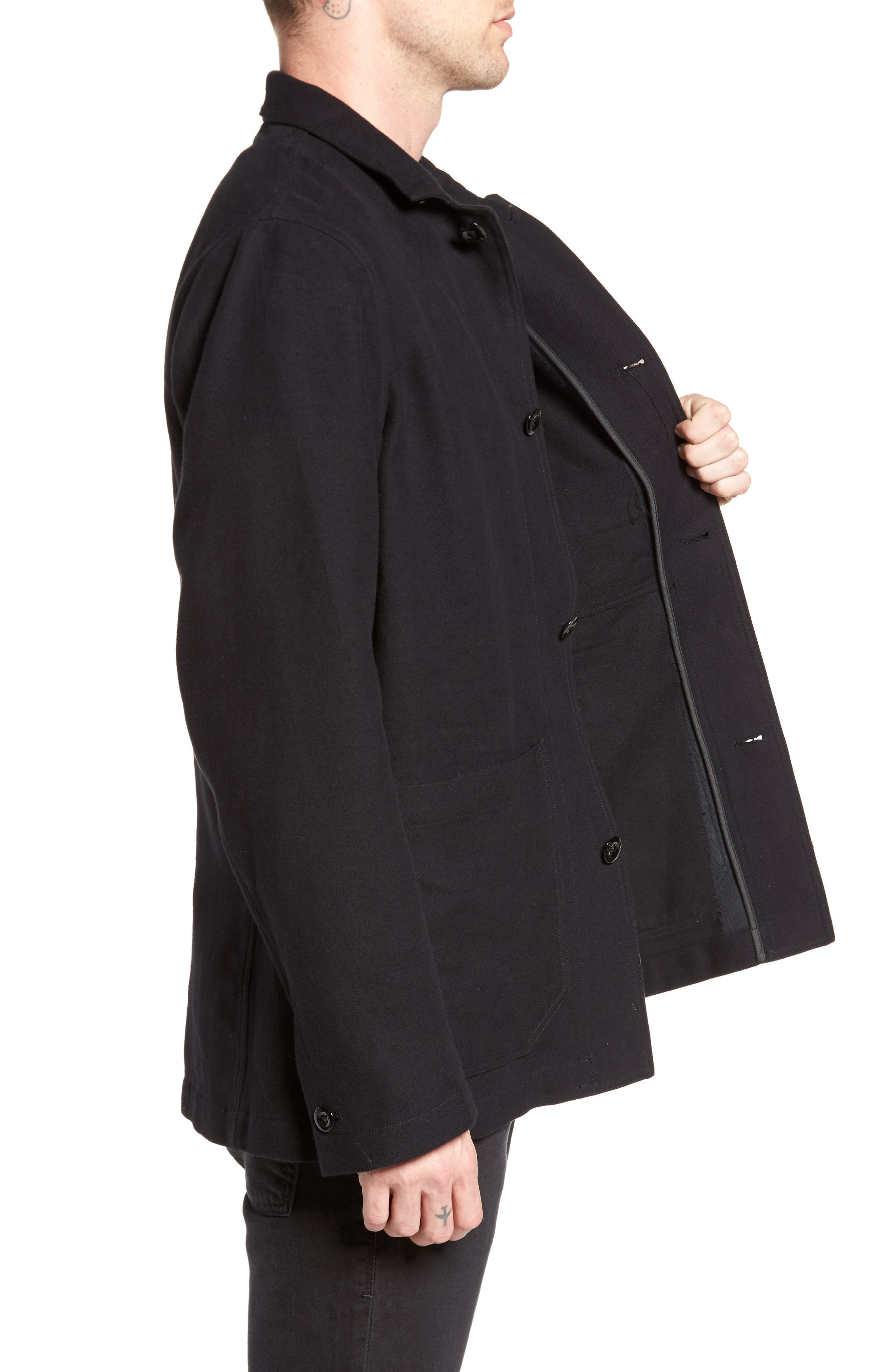 Bronson Worker Blazer,                             Alternate thumbnail 3, color,                             Black