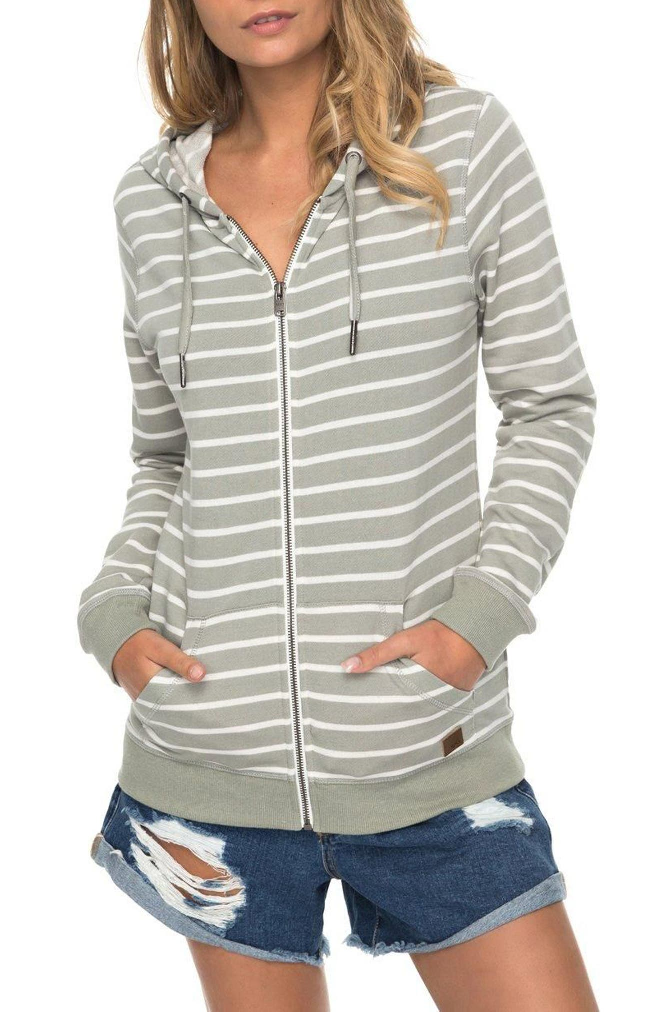 Alternate Image 1 Selected - Roxy Trippin Stripe Hoodie