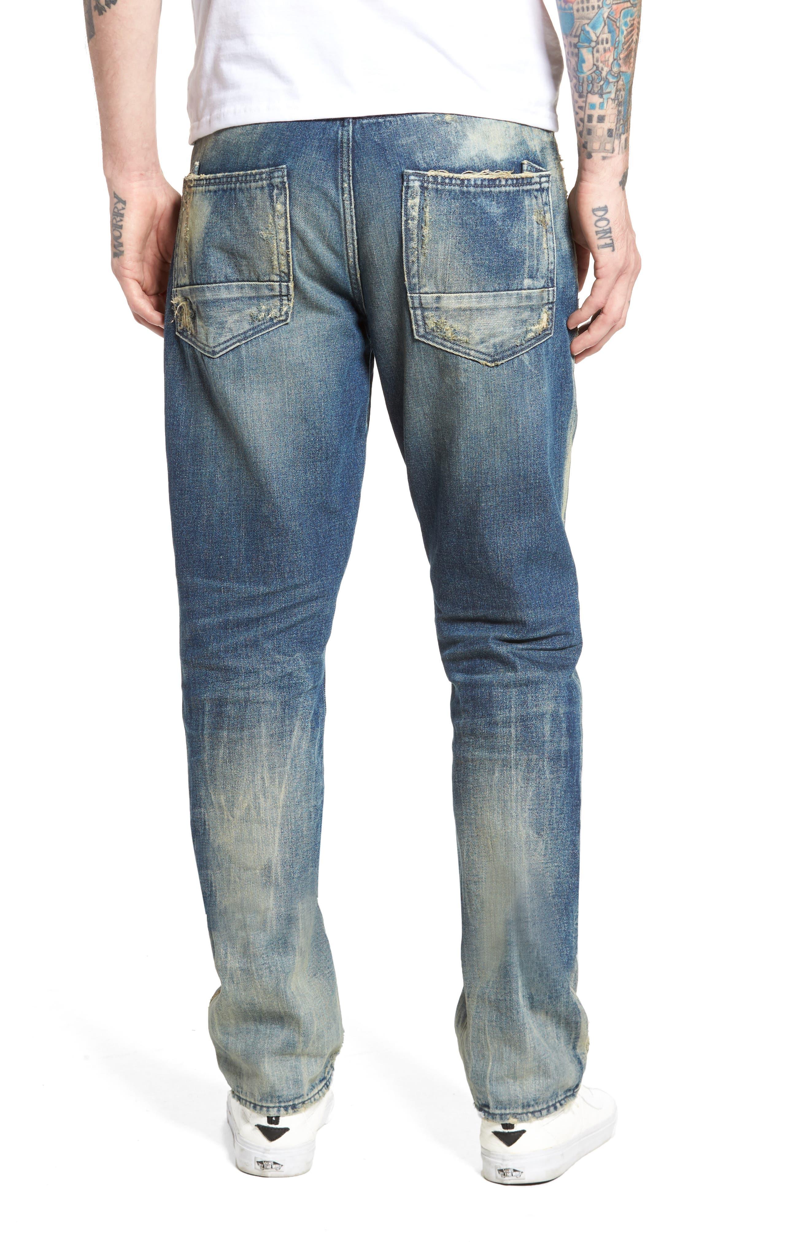 Alternate Image 2  - PRPS Slim Straight Leg Jeans (Hip)