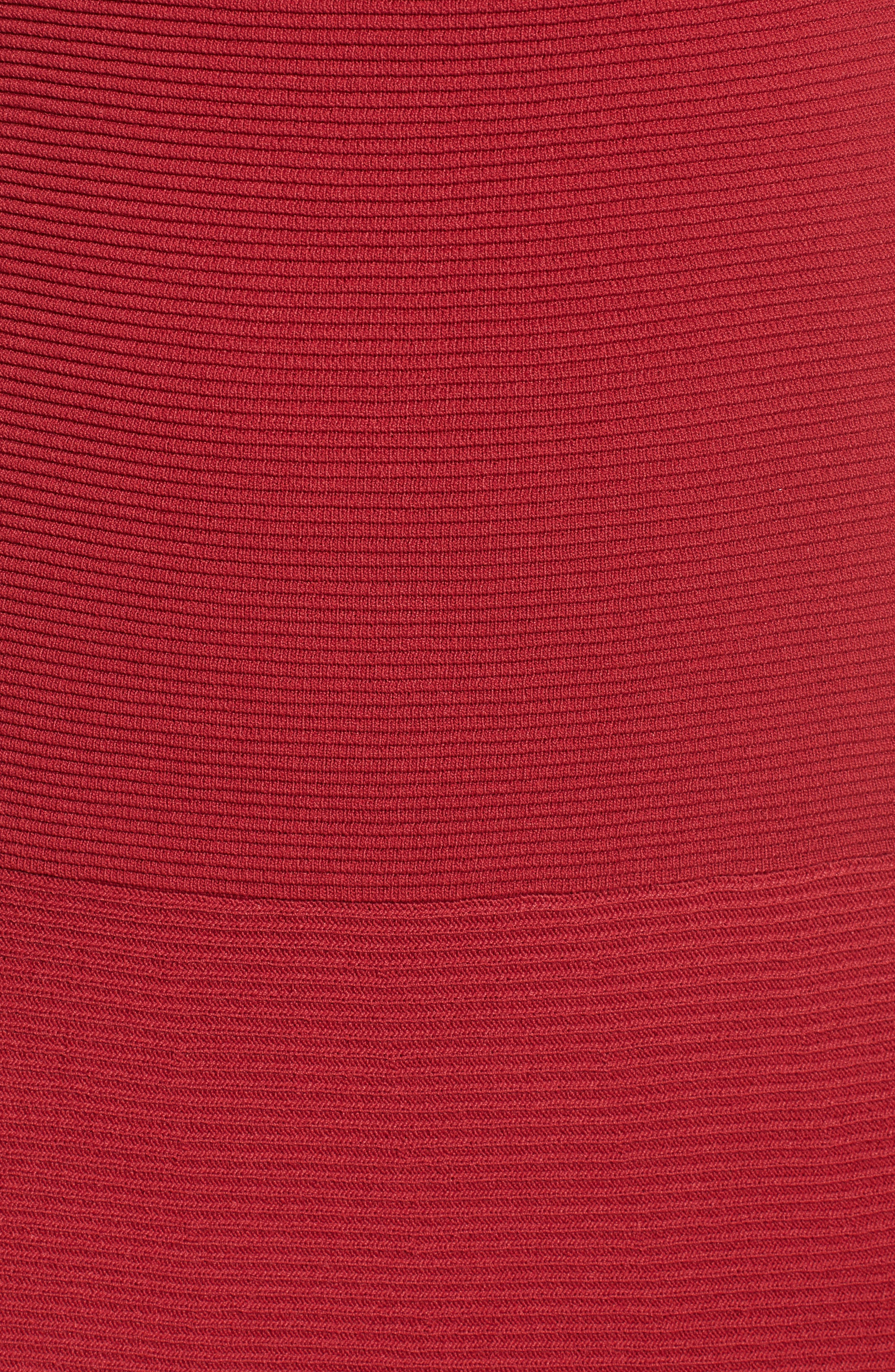 Whitley Off the Shoulder Dress,                             Alternate thumbnail 5, color,                             Crimson