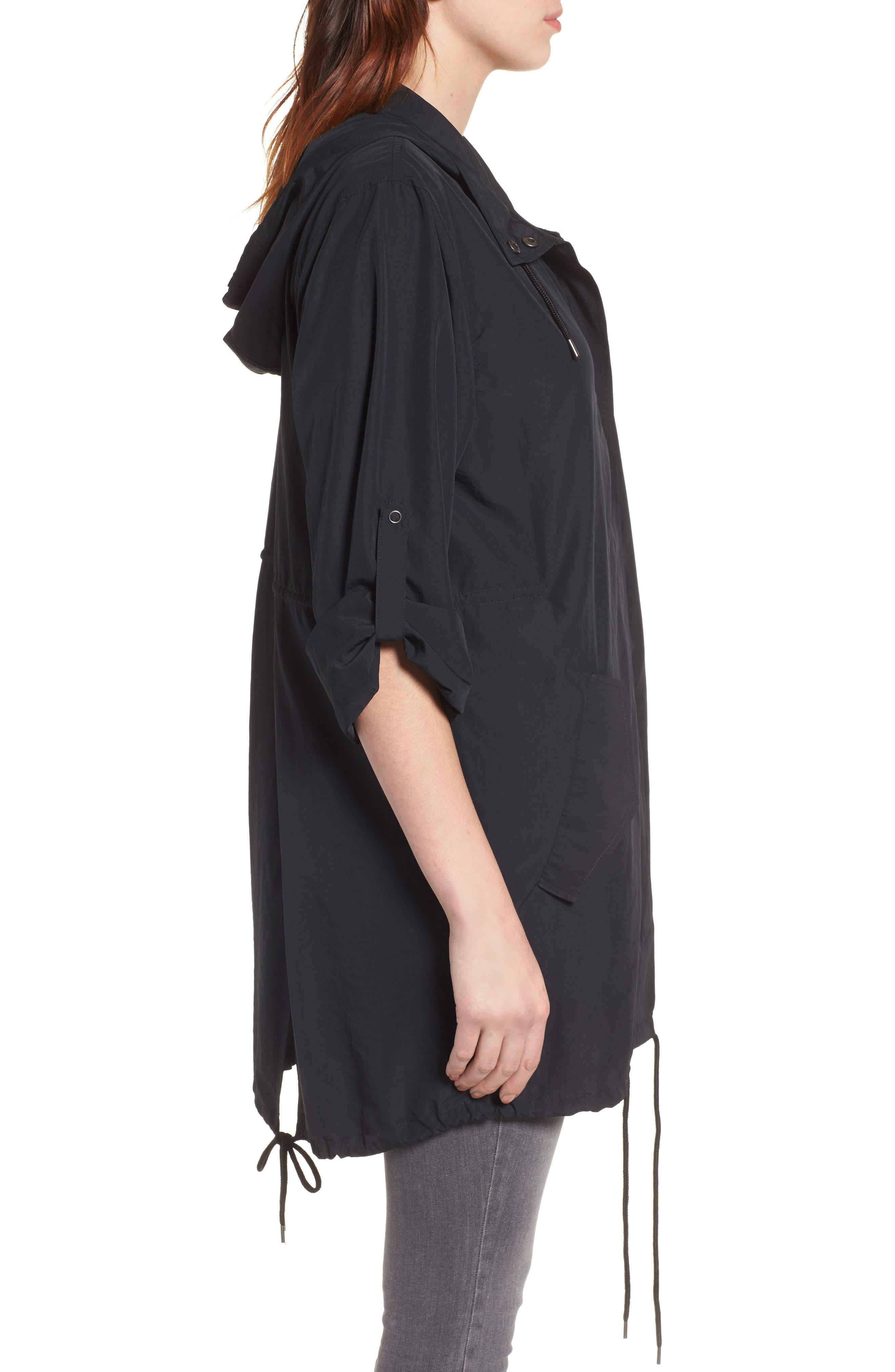 Tumbled Anorak Jacket,                             Alternate thumbnail 3, color,                             Black