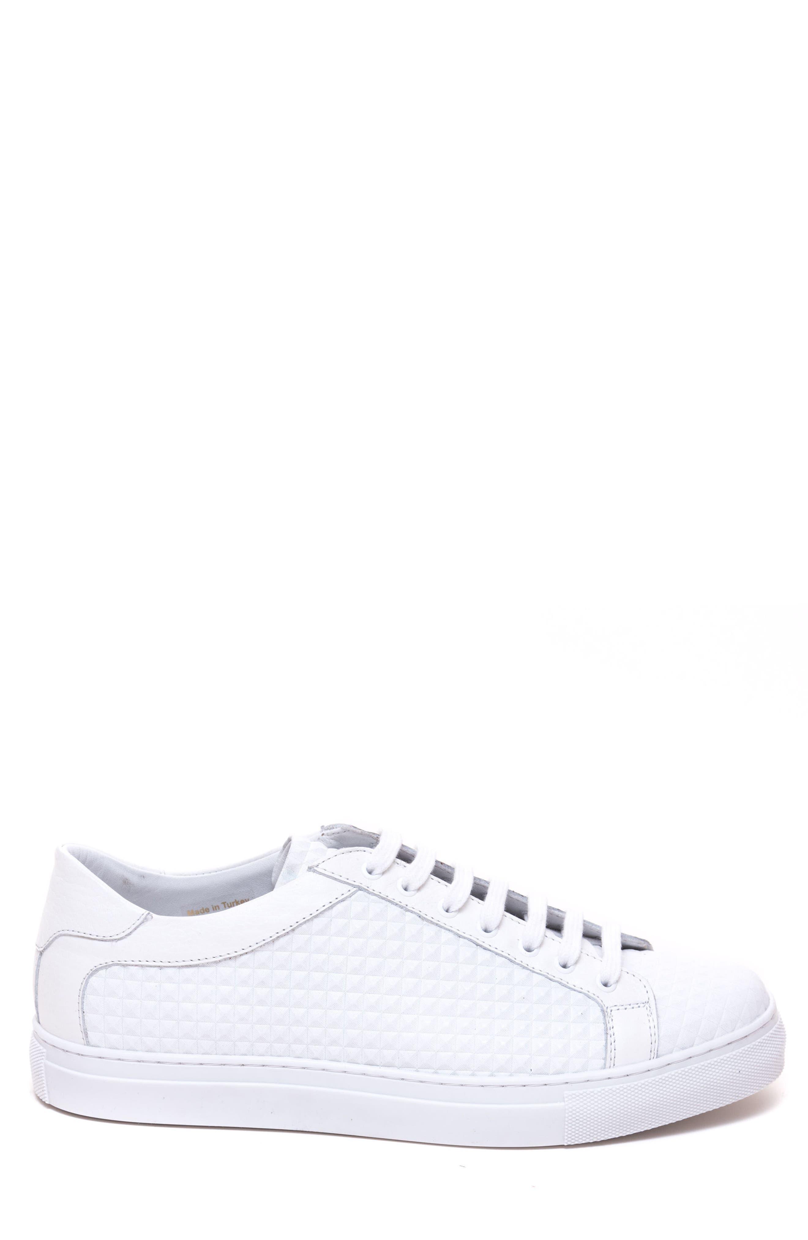 Scott Leather Sneaker,                             Alternate thumbnail 3, color,                             White