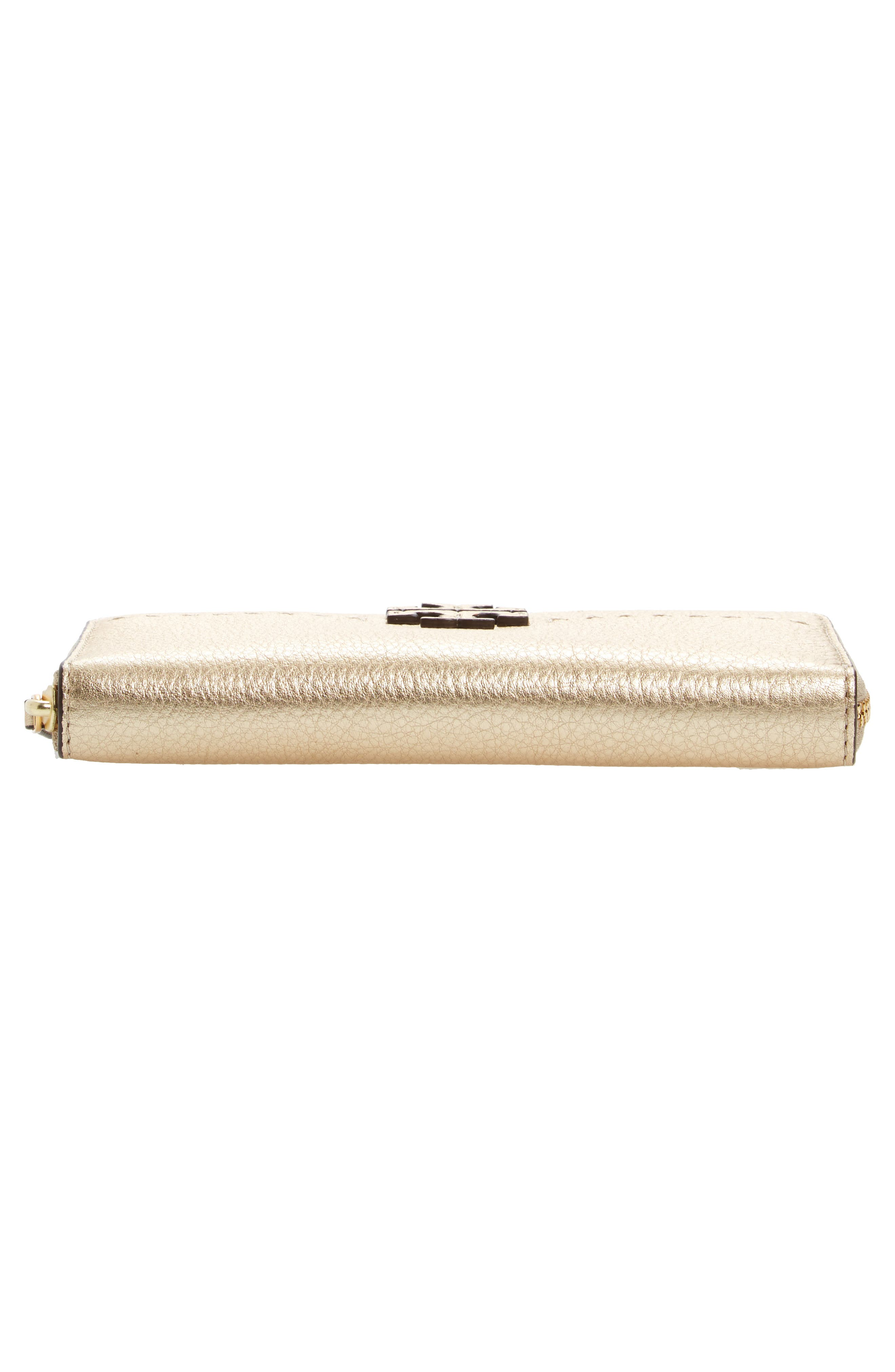 McGraw Leather Continental Wallet,                             Alternate thumbnail 5, color,                             Gold