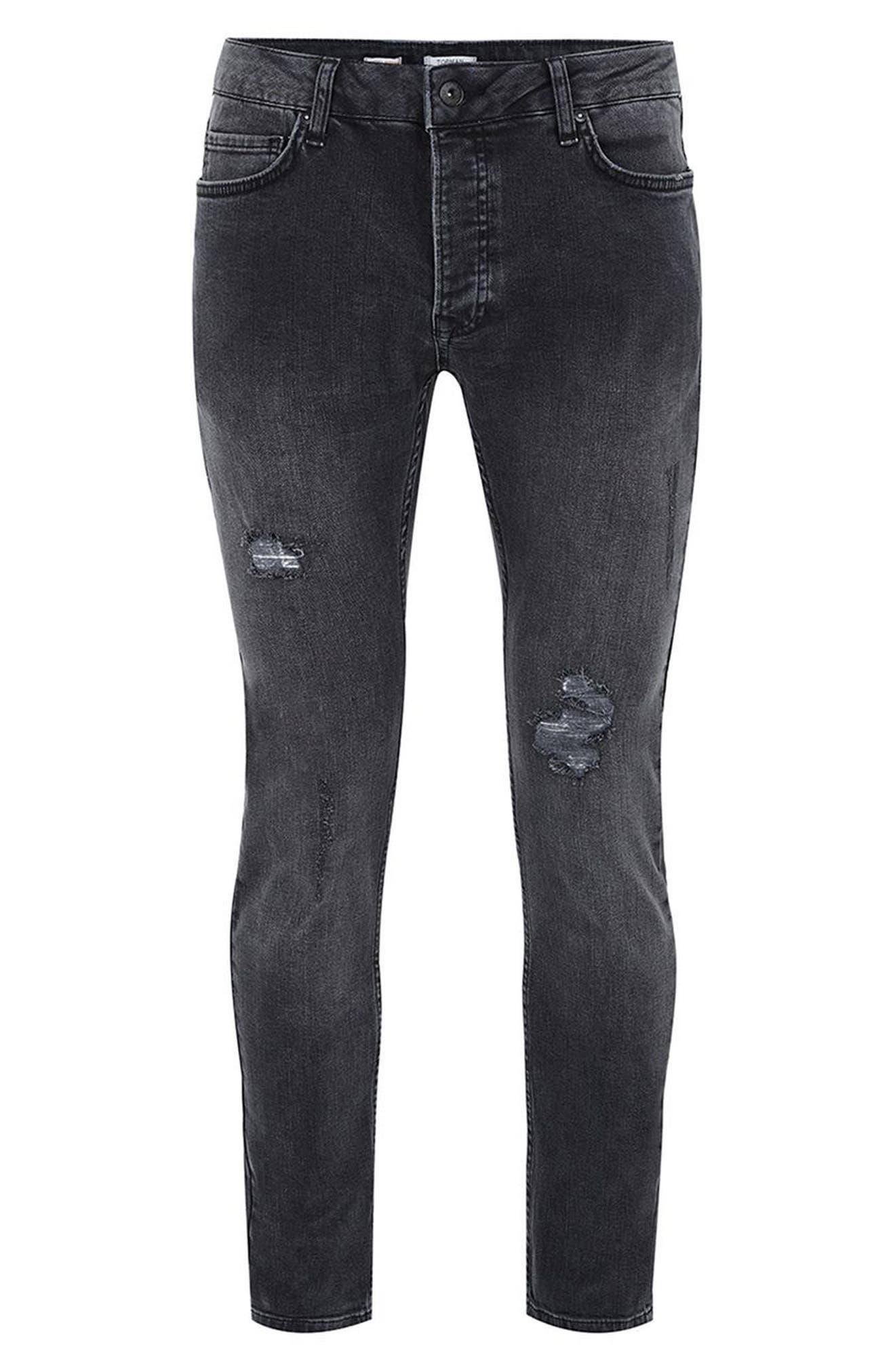 Alternate Image 4  - Topman Frankie Super Skinny Jeans