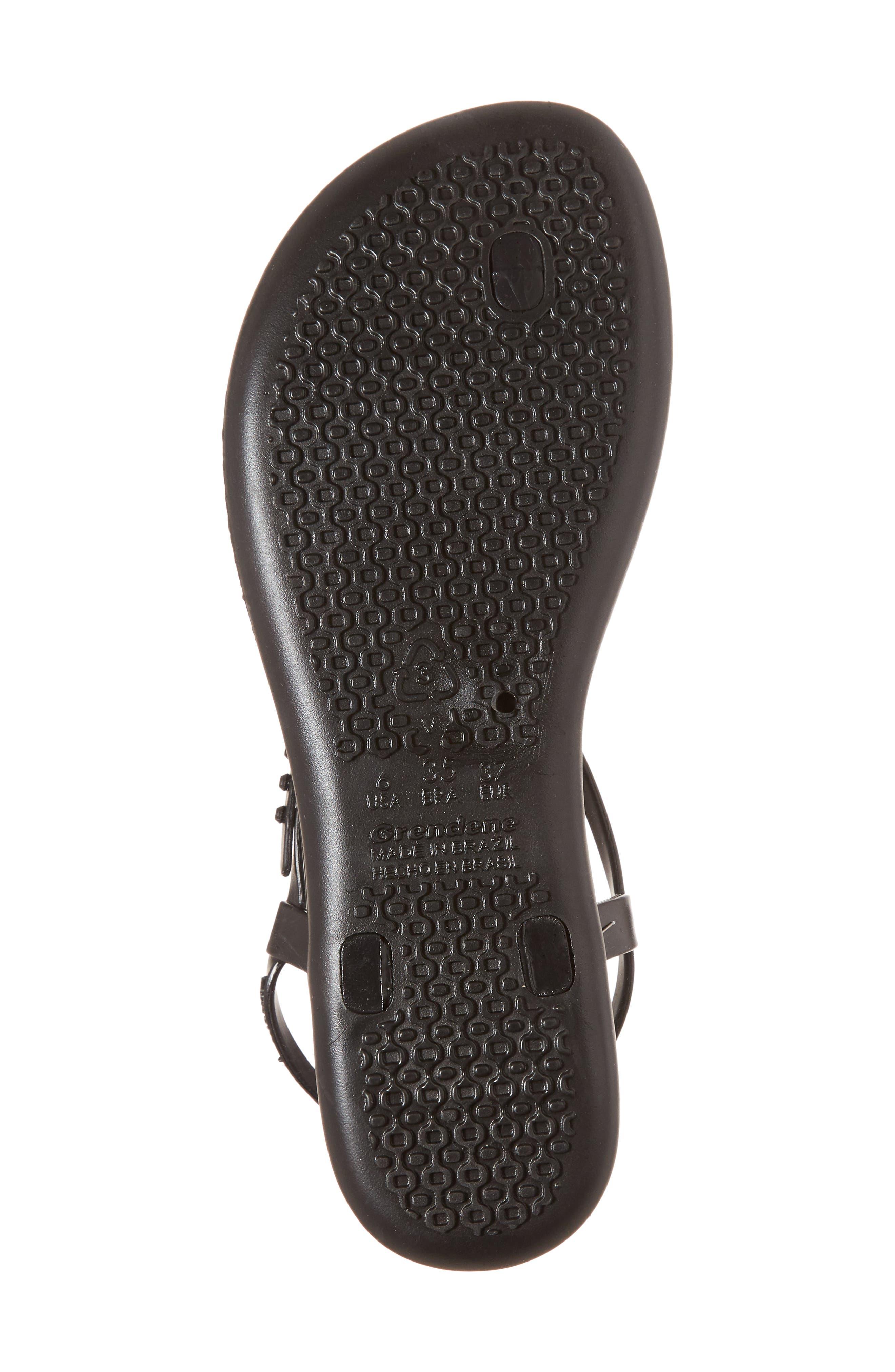 Shimmer Sandal,                             Alternate thumbnail 6, color,                             Black/ Black