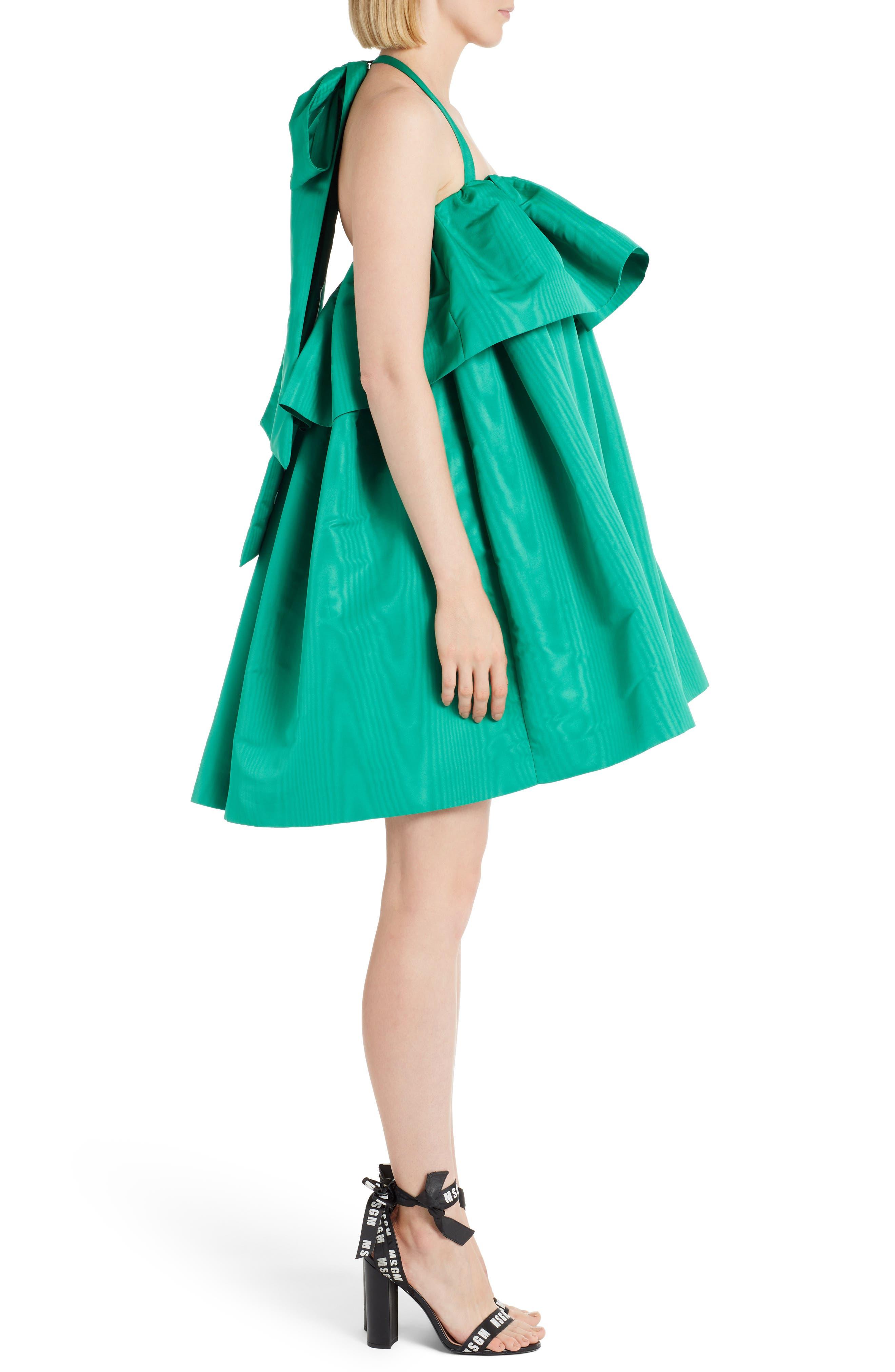 Popover Halter Dress,                             Alternate thumbnail 3, color,                             Green 36