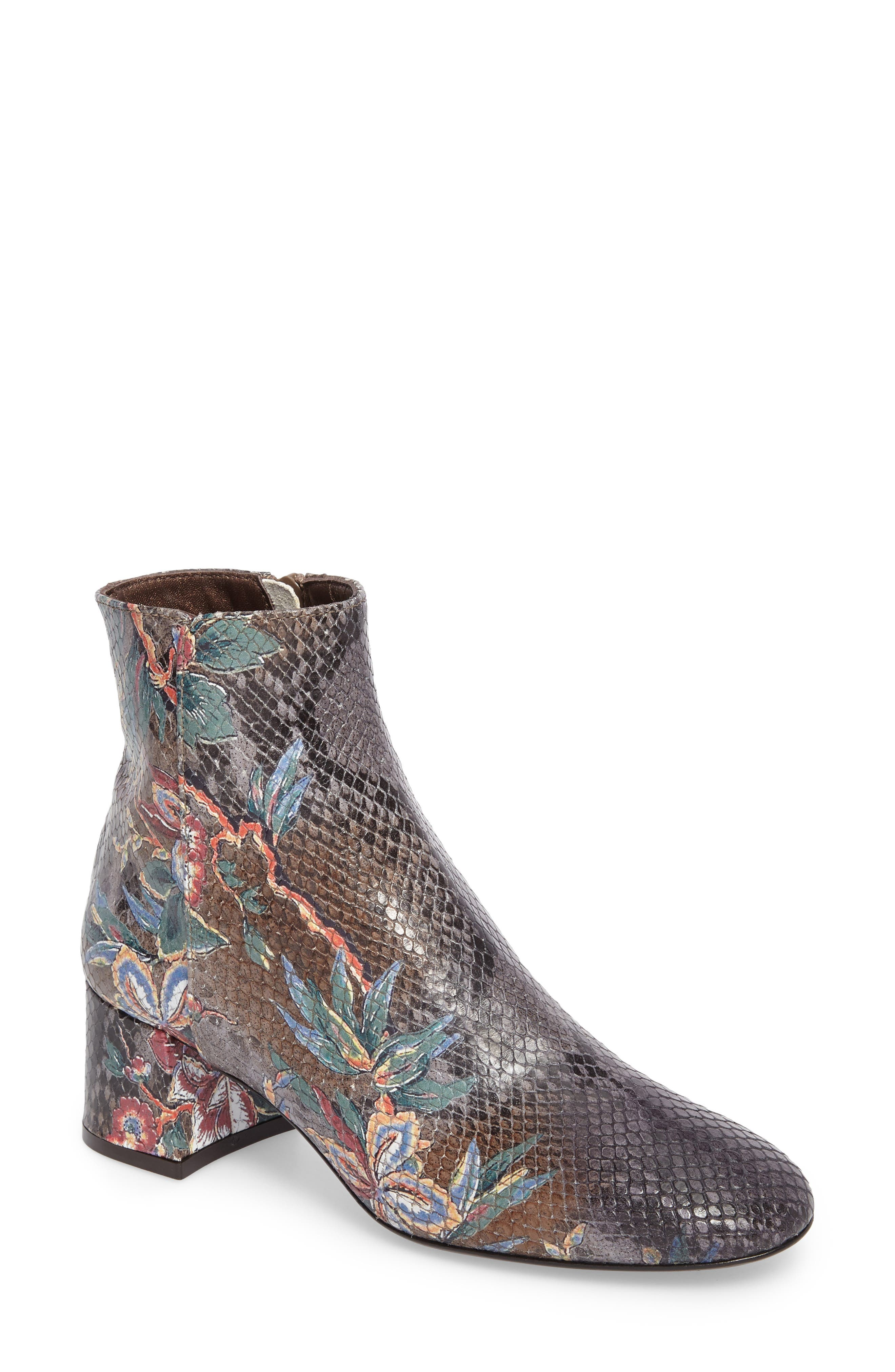 Cocorito Block Heel Bootie,                         Main,                         color, Marble Taupe Leather