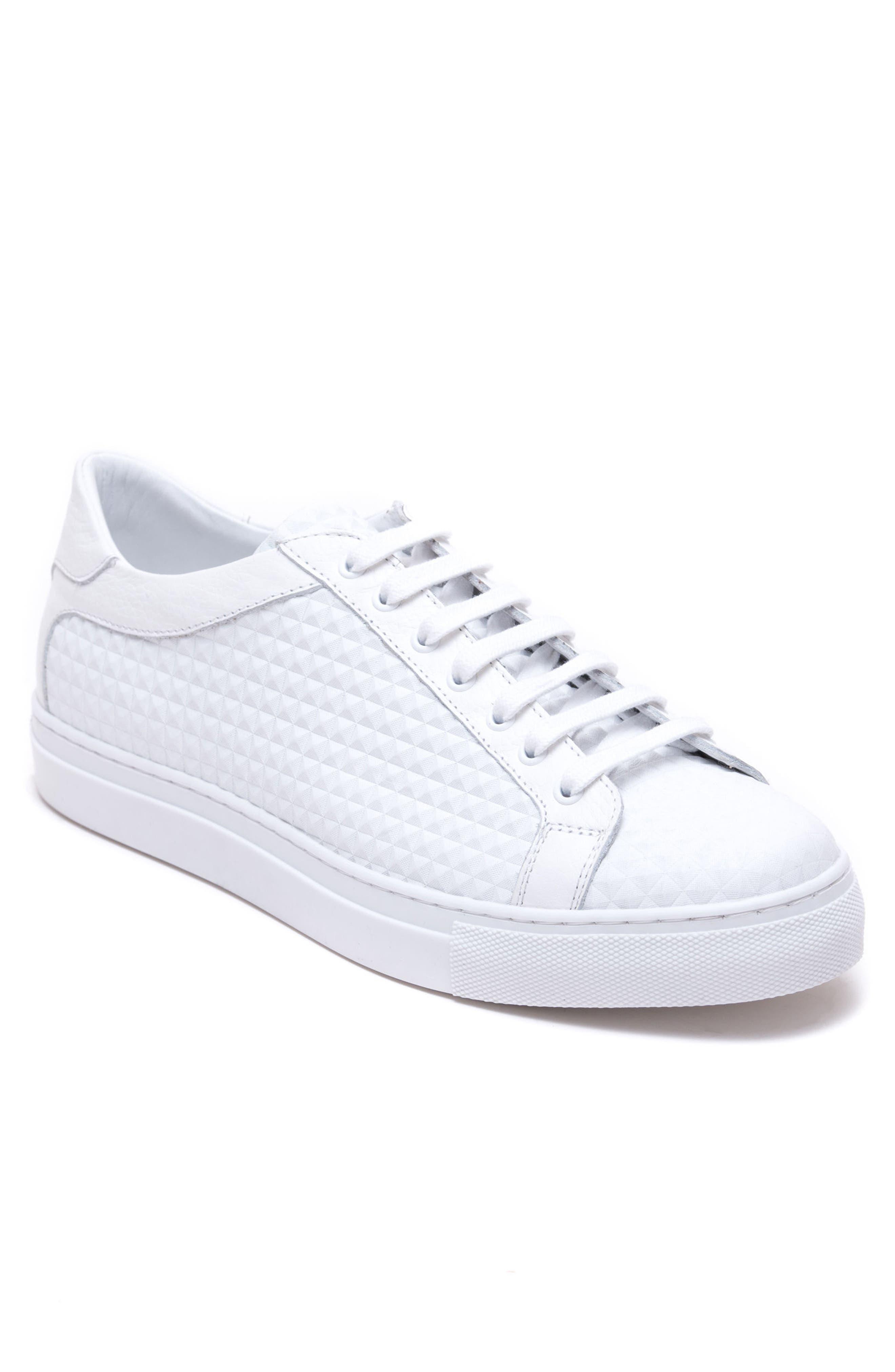 Scott Leather Sneaker,                             Main thumbnail 1, color,                             White