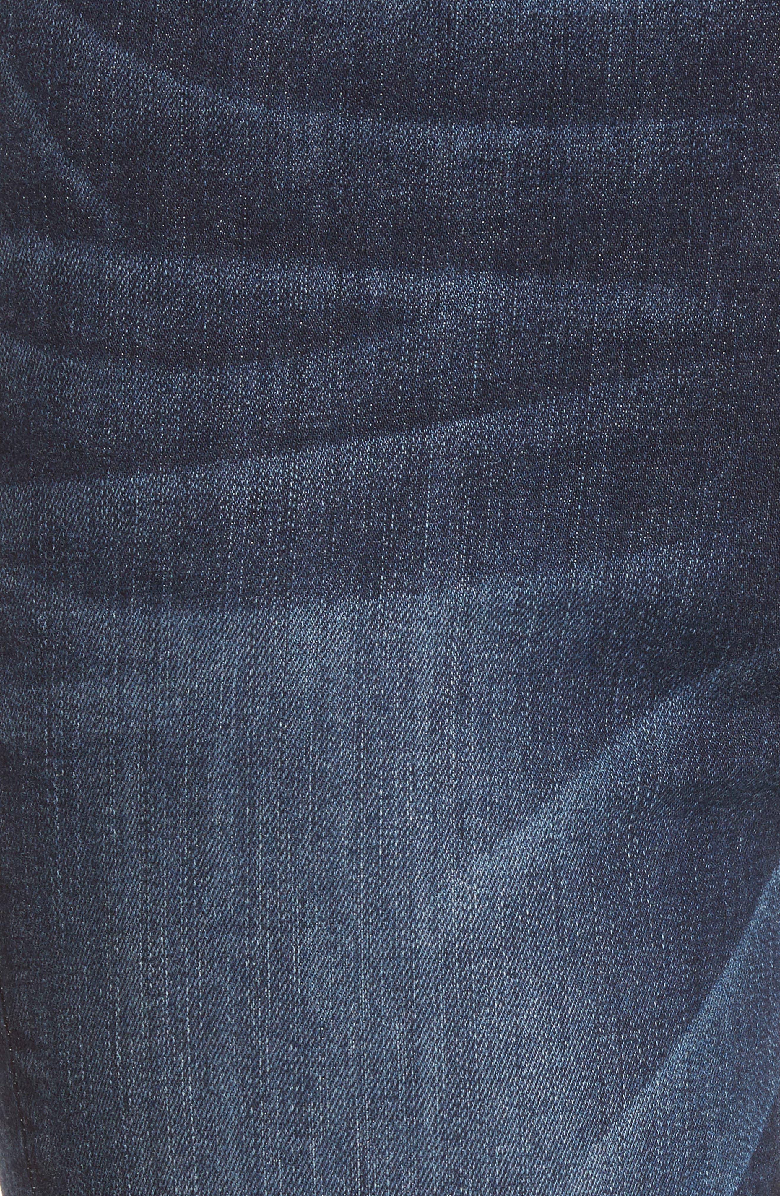 Transcend Vintage - Colette Crop Flare Jeans,                             Alternate thumbnail 6, color,                             Anza