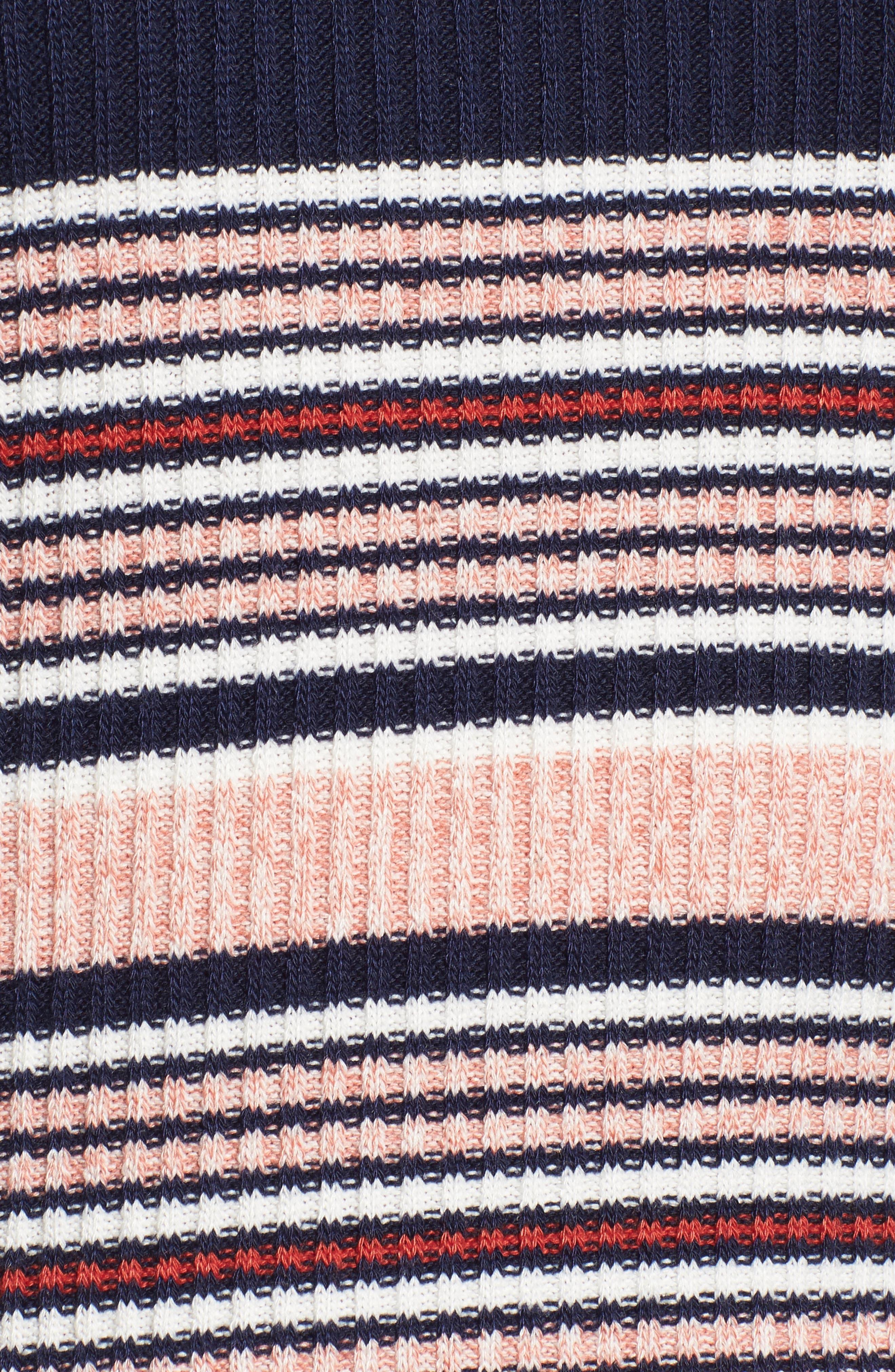 Stripe Bell Sleeve Tee,                             Alternate thumbnail 5, color,                             Multi