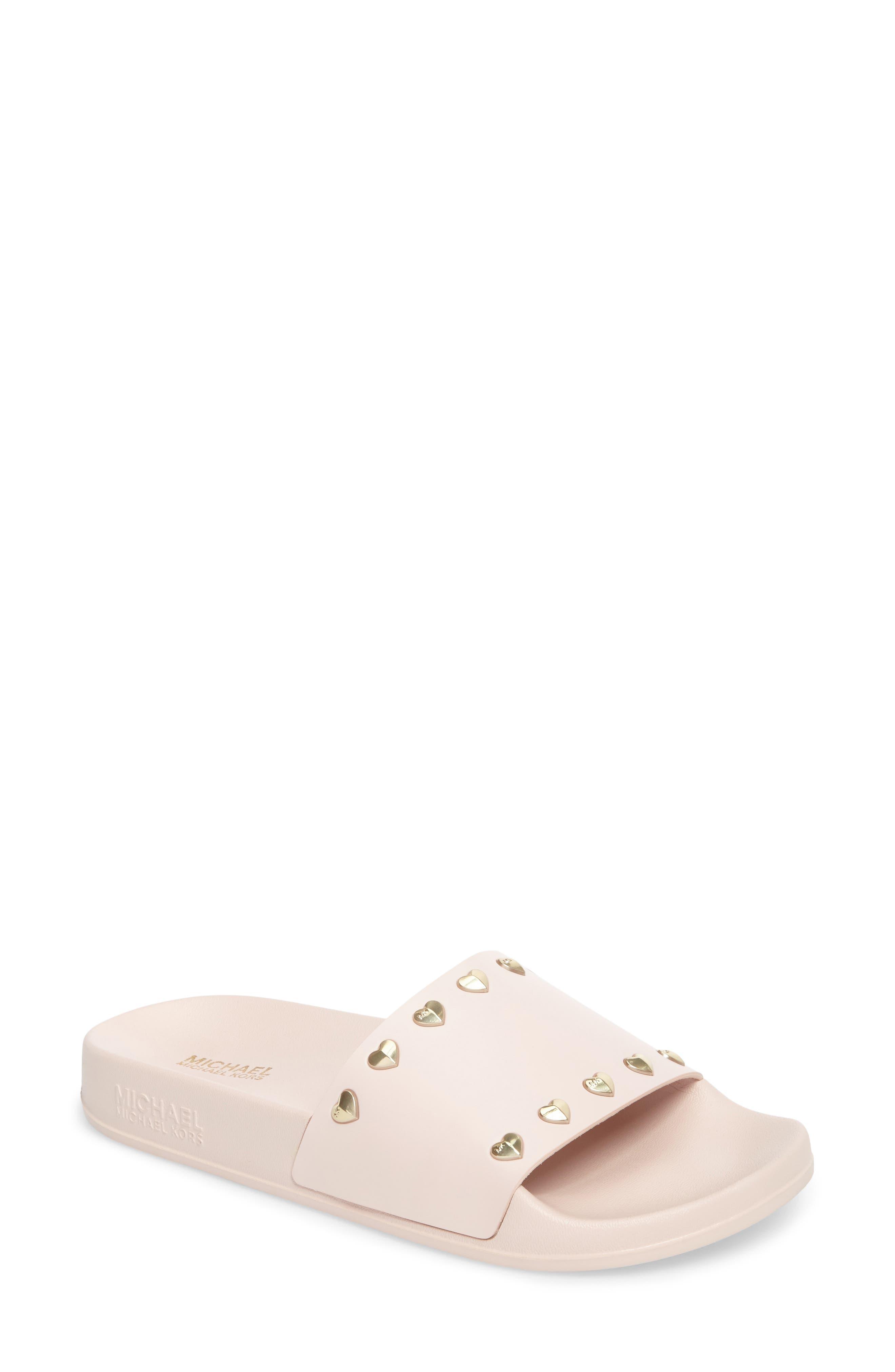 Zooey Slide Sandal,                             Main thumbnail 1, color,                             Soft Pink