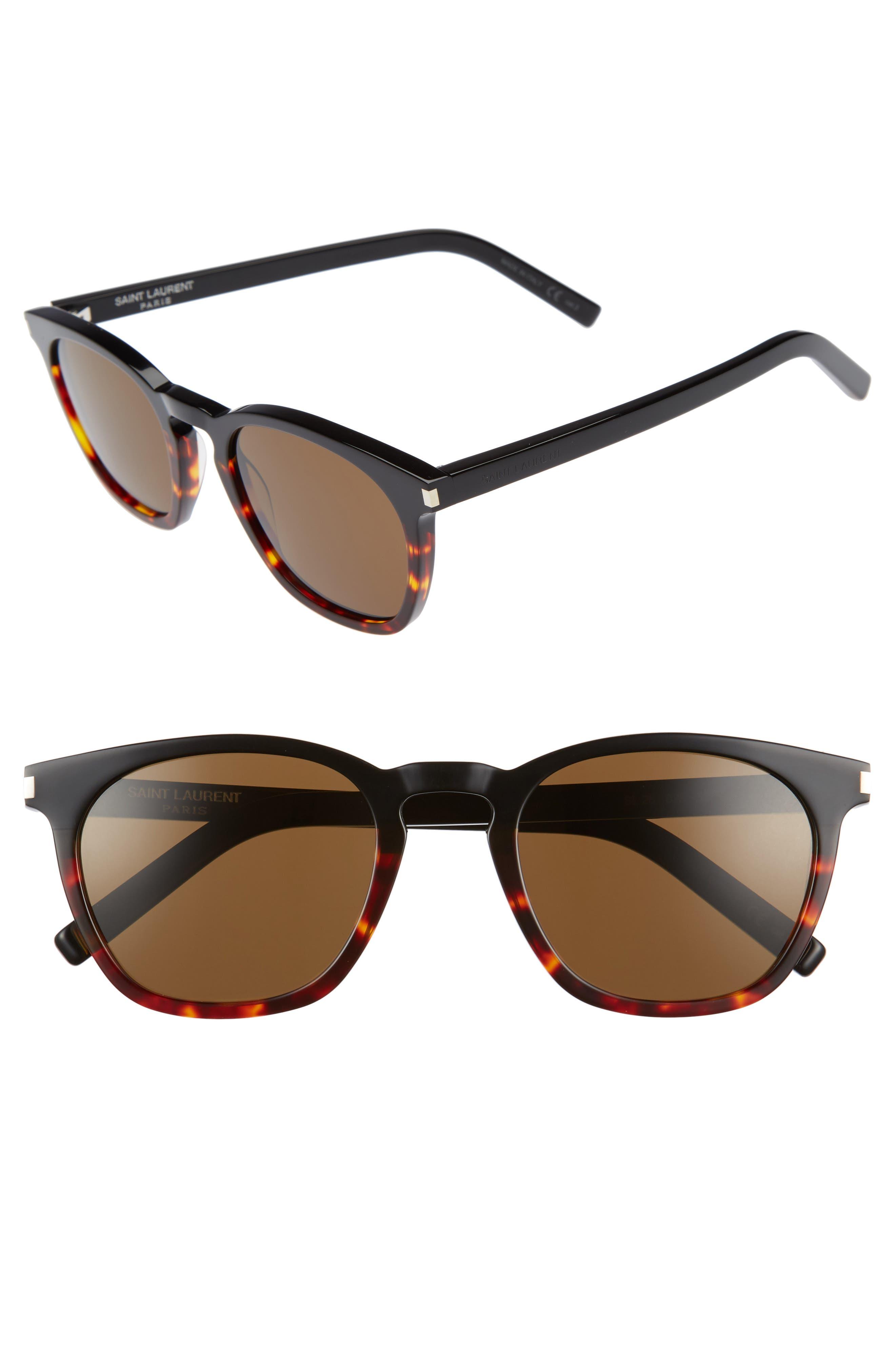 SL 28 51mm Keyhole Sunglasses,                         Main,                         color, Black