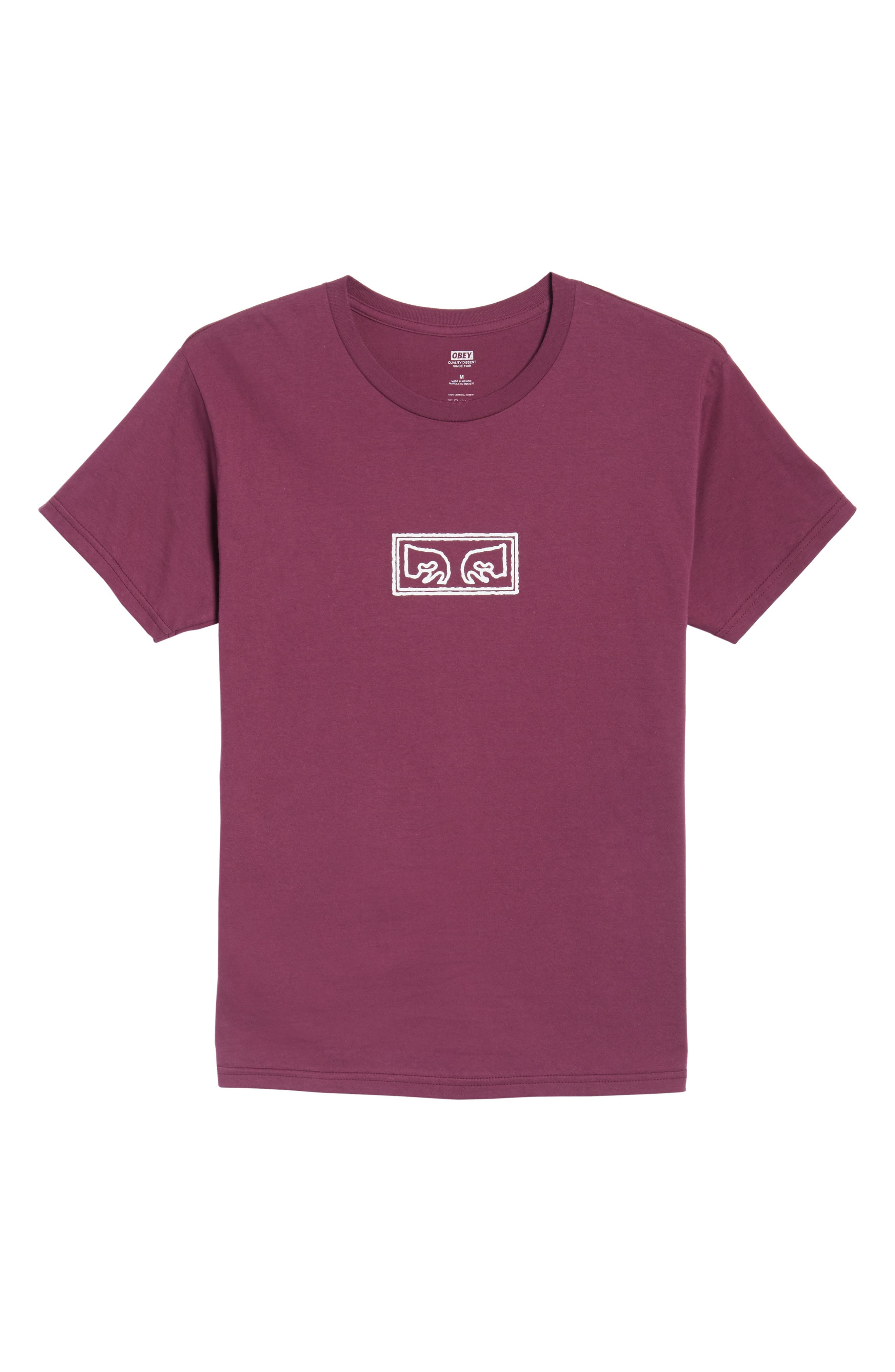 Eyes Graphic Premium T-Shirt,                             Alternate thumbnail 6, color,                             Raspberry