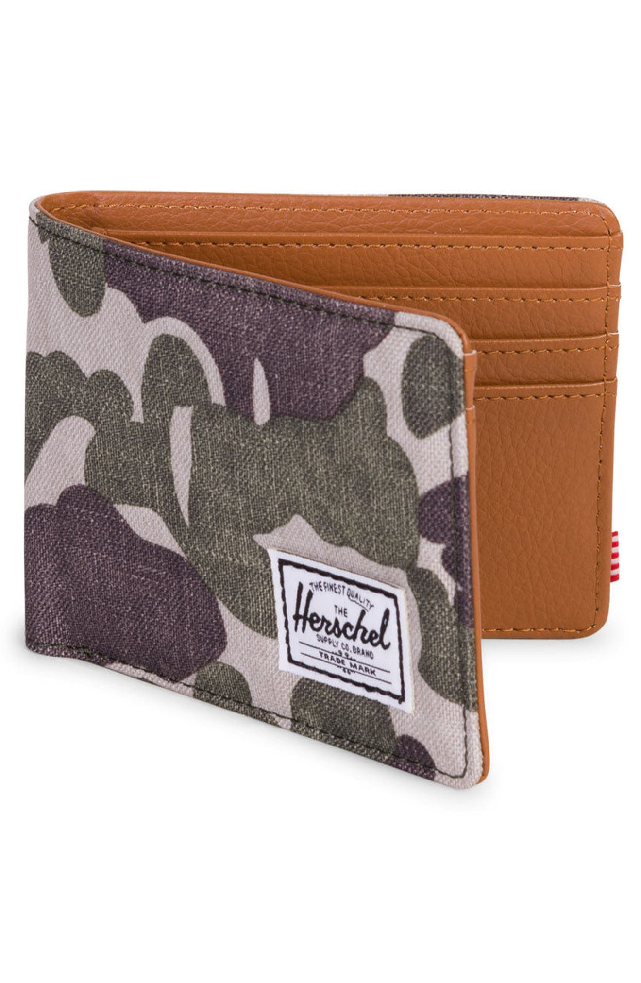 Hank Wallet,                             Alternate thumbnail 3, color,                             Frog Camo/ Tan Synth Leather