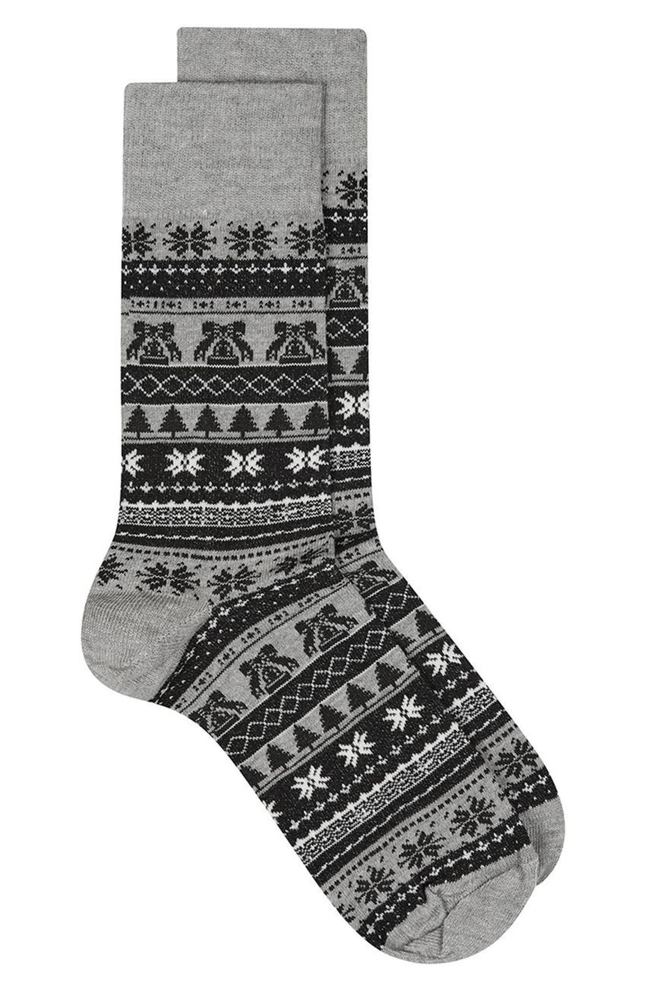 Topman Christmas Fair Isle Bell Socks