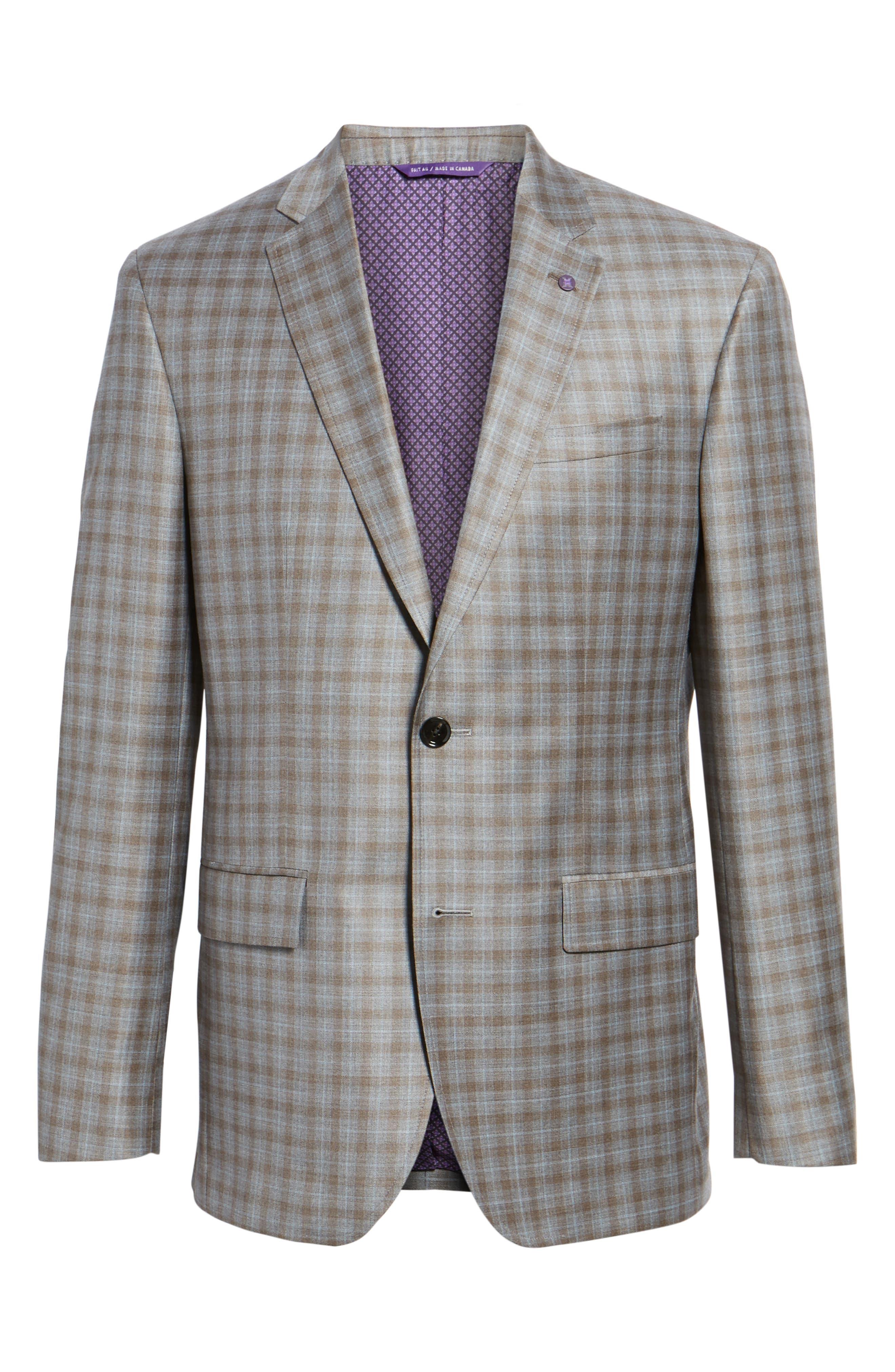 Alternate Image 6  - Ted Baker London Jay Trim Fit Plaid Wool Sport Coat