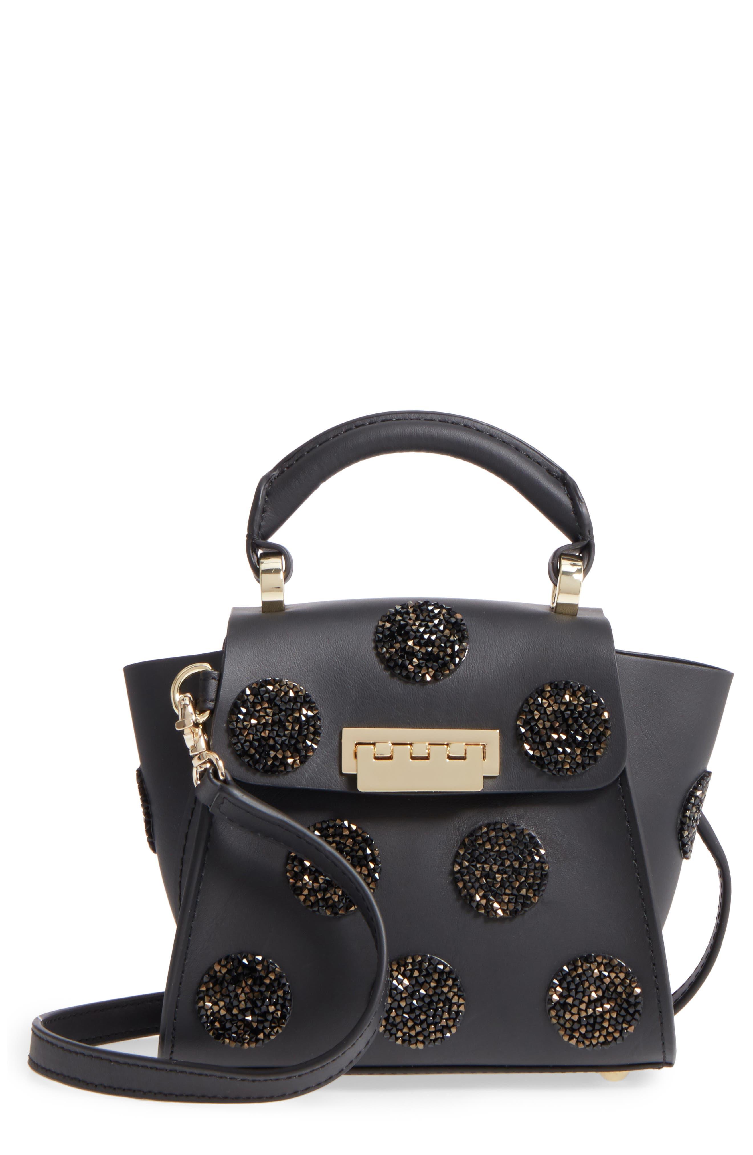 Mini Eartha Iconic Calfskin Leather Top Handle Satchel,                         Main,                         color, Black
