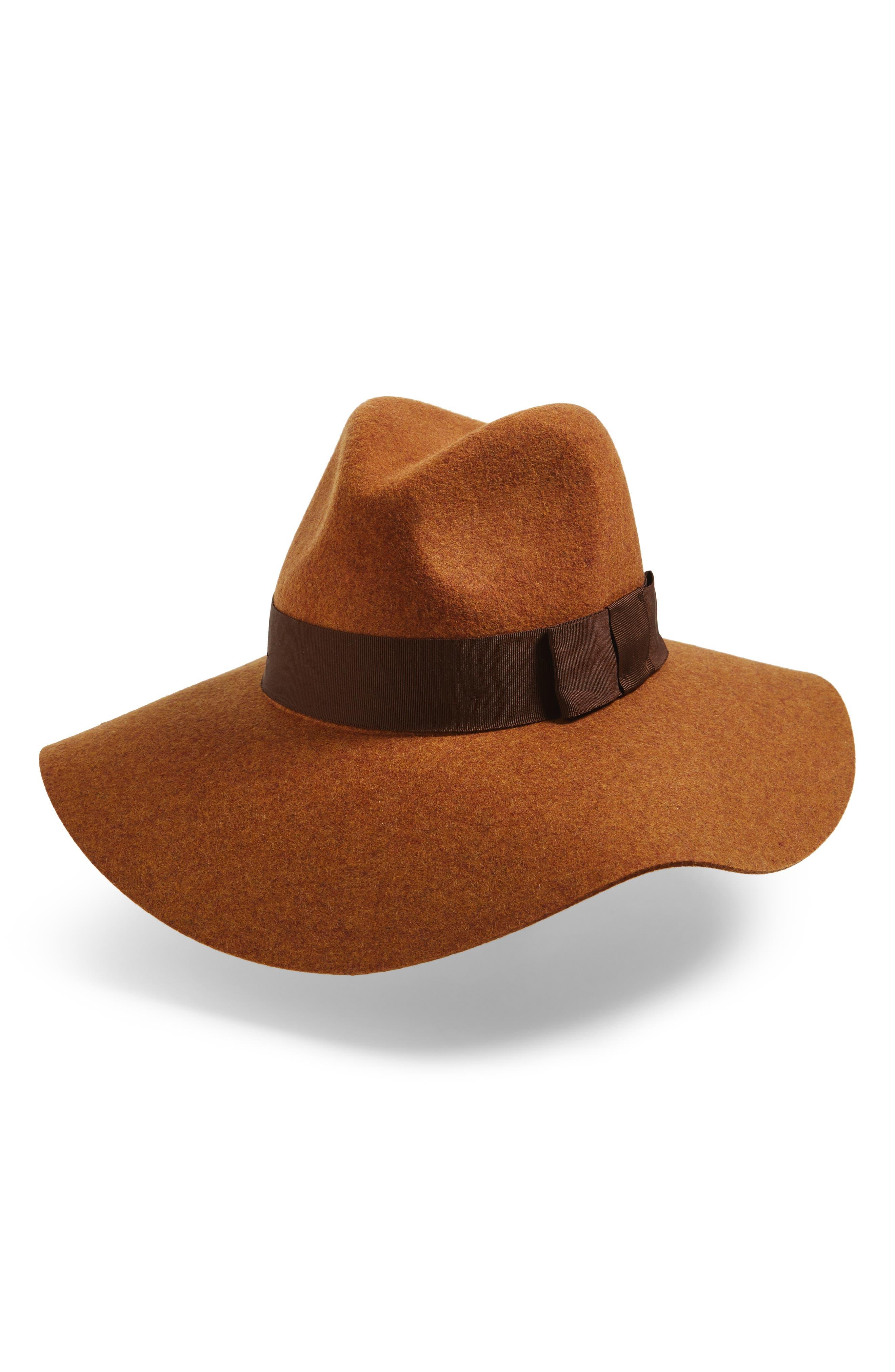 39a01ba0e37 Brixton Piper Floppy Wool Felt Hat - Brown In Heather Coffee ...
