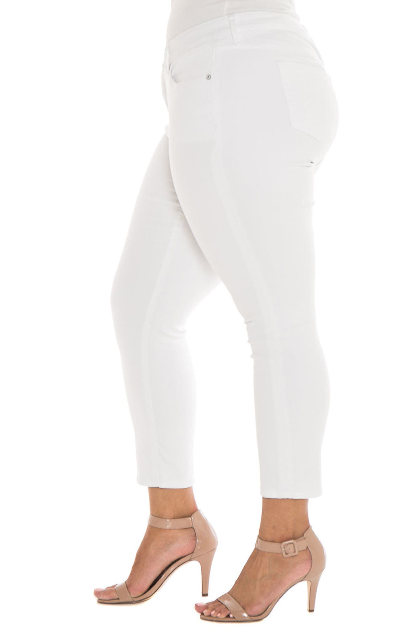 Alternate Image 3  - SLINK Jeans Stretch Skinny Jeans (Charlie) (Plus Size)
