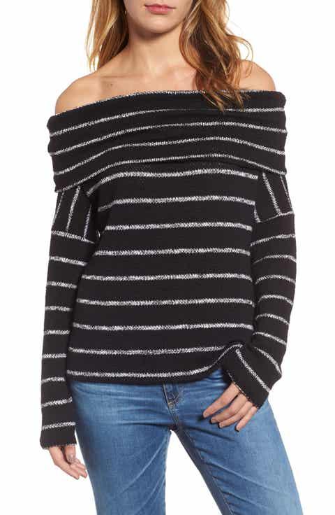 Caslon® Convertible Off the Shoulder Pullover (Regular & Petite)