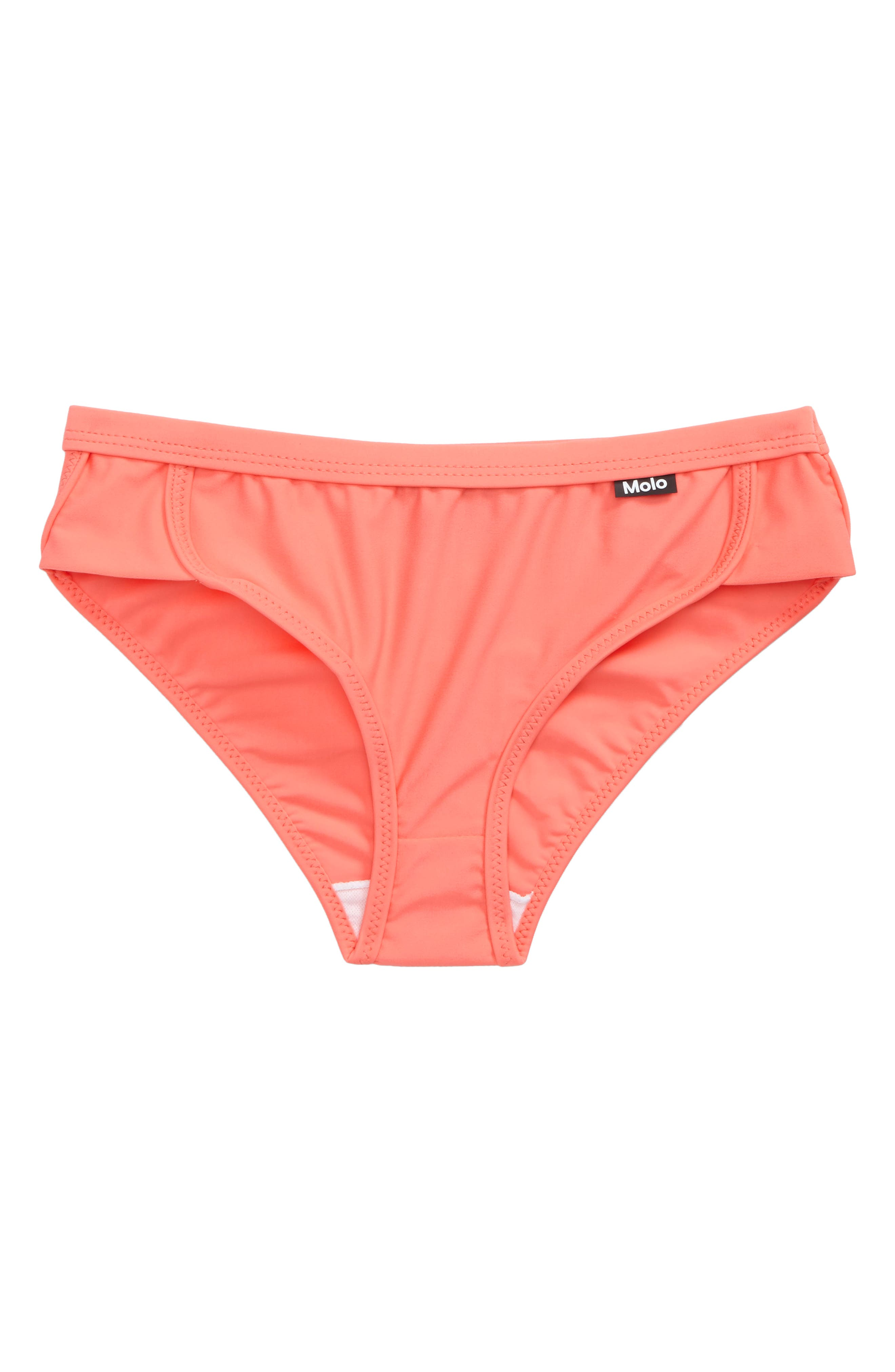 Nikki Bikini Bottoms,                         Main,                         color, Georgia Peach