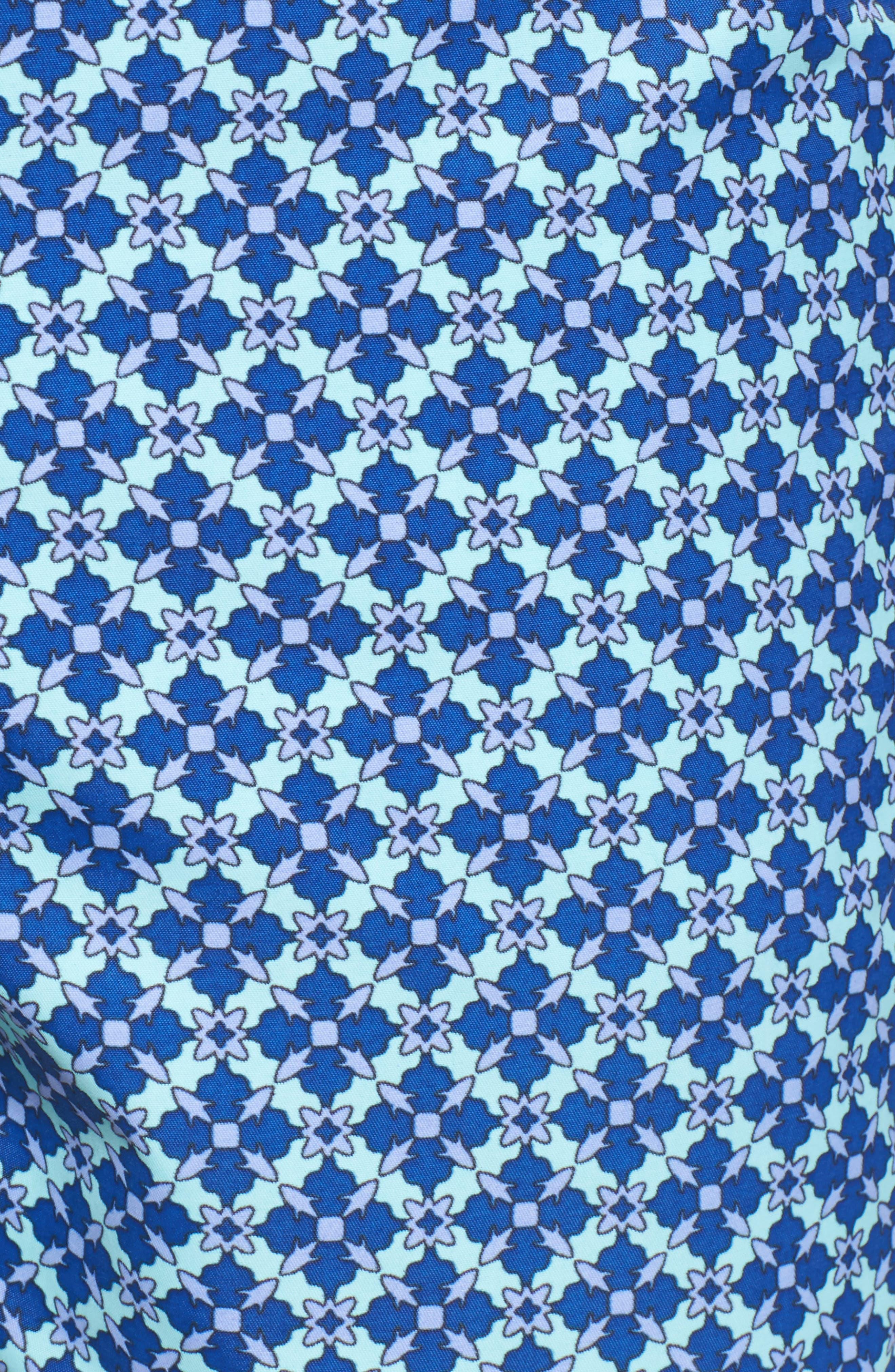 Mr. Swim Mosaic Swim Trunks,                             Alternate thumbnail 5, color,                             Grey
