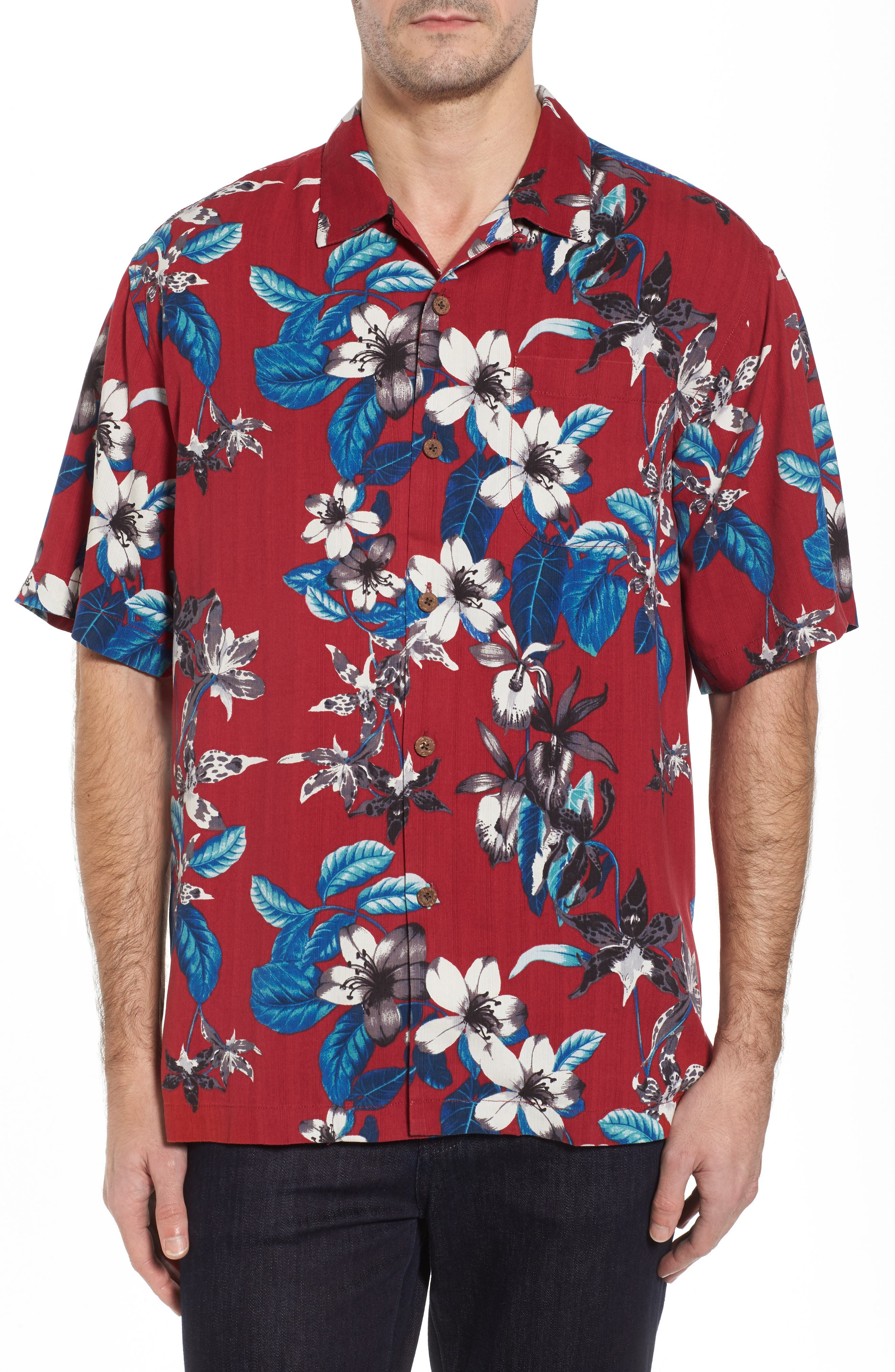 Main Image - Tommy Bahama The Viner Things in Life Silk Camp Shirt