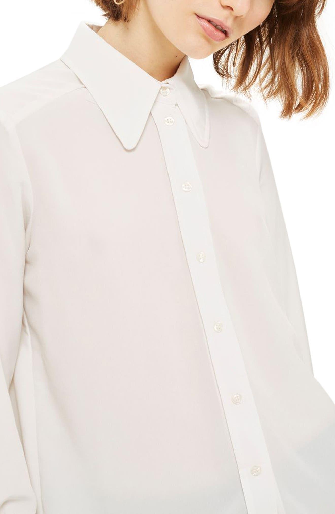 Alternate Image 1 Selected - Topshop '70s Collar Shirt