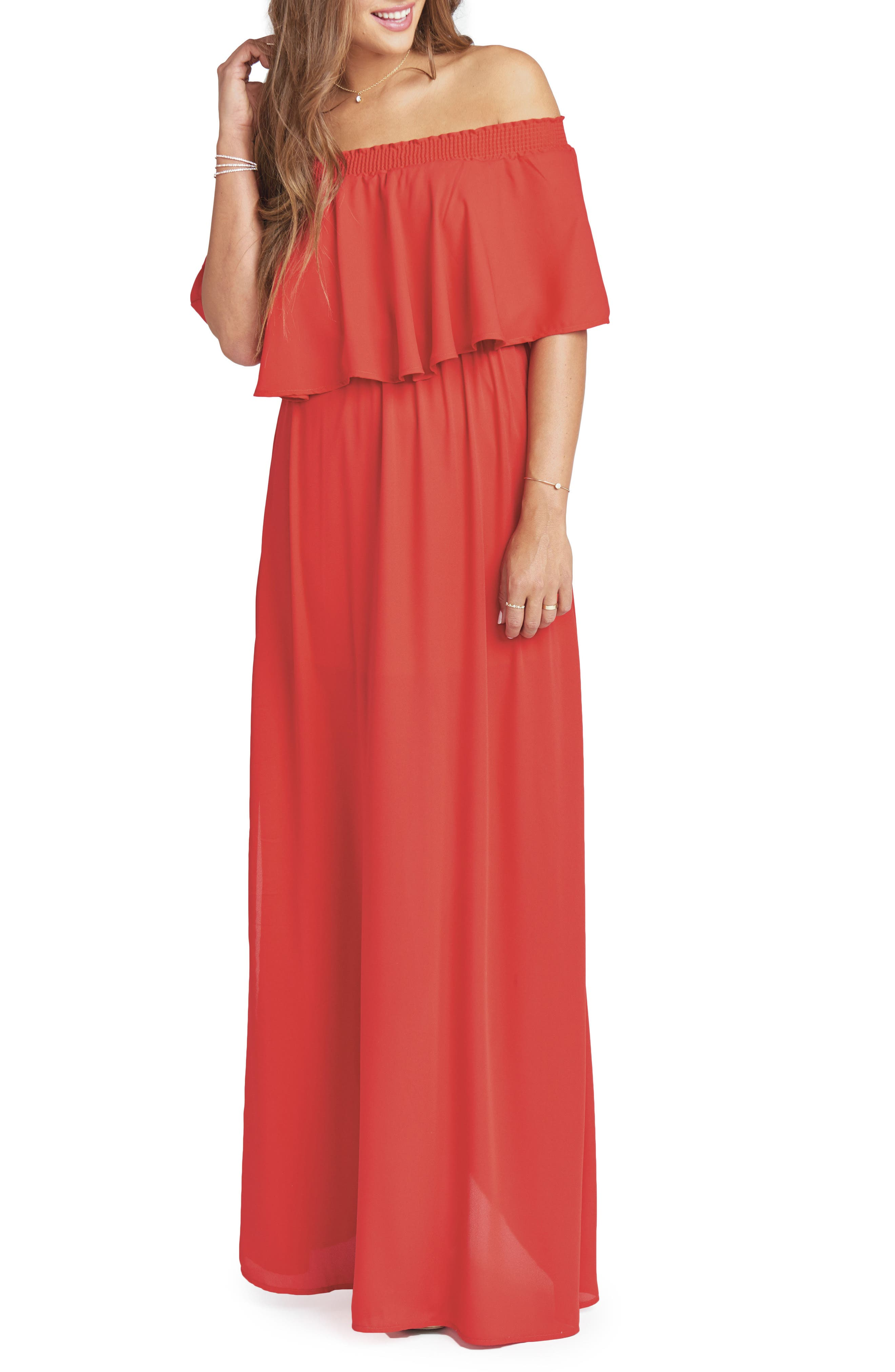 Hacienda Convertible Gown,                             Main thumbnail 1, color,                             Lady In Red Crisp