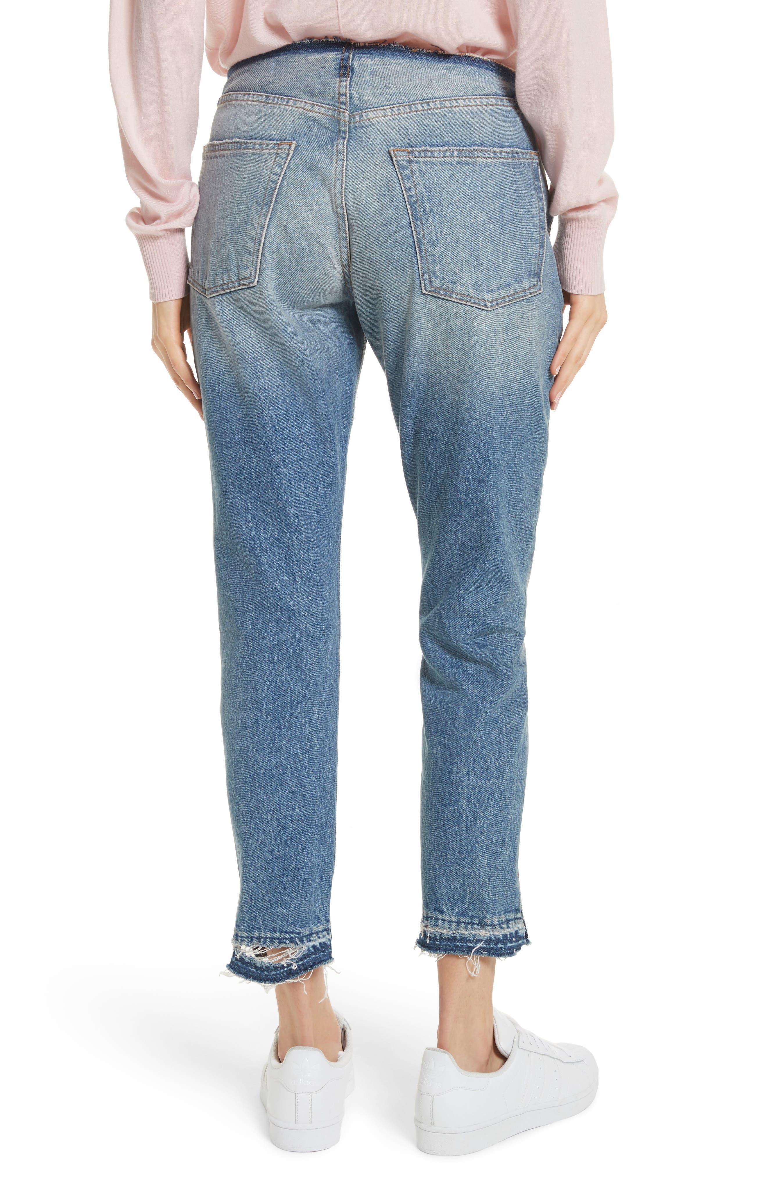 Re-Release Le Original Raw Edge High Waist Jeans,                             Alternate thumbnail 2, color,                             Horne