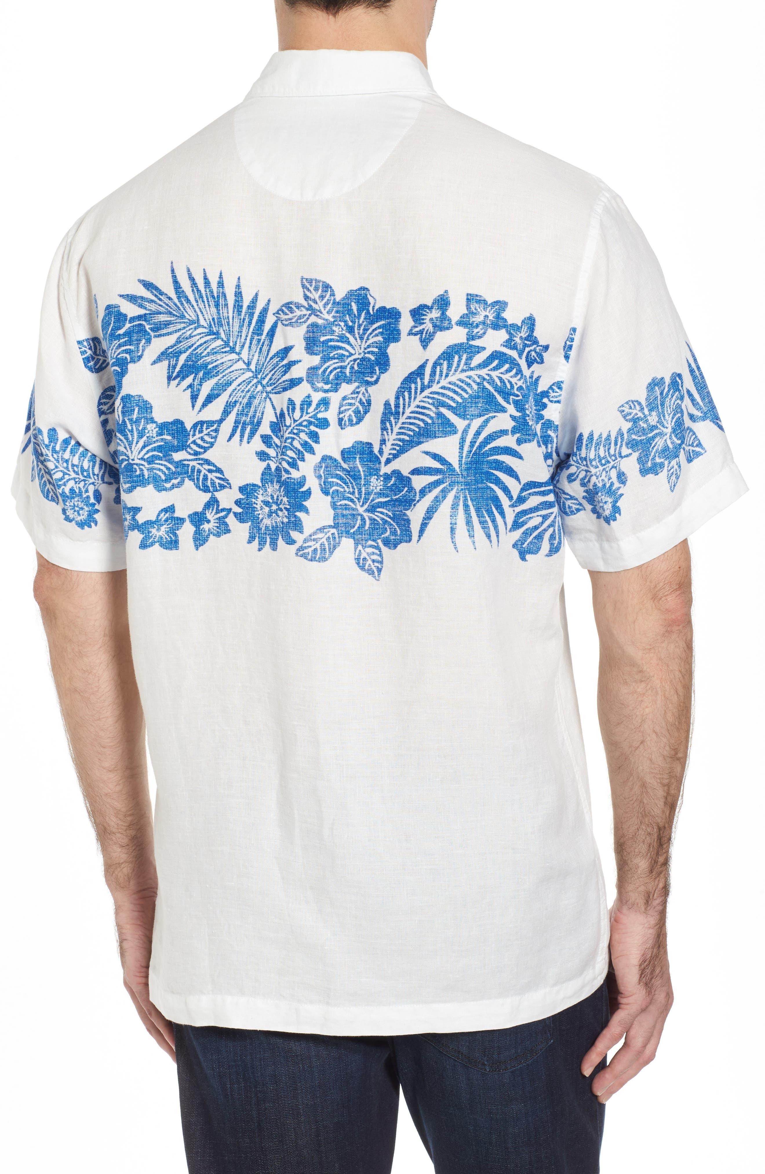 Waimea Wonder Linen Camp Shirt,                             Alternate thumbnail 2, color,                             Coconut
