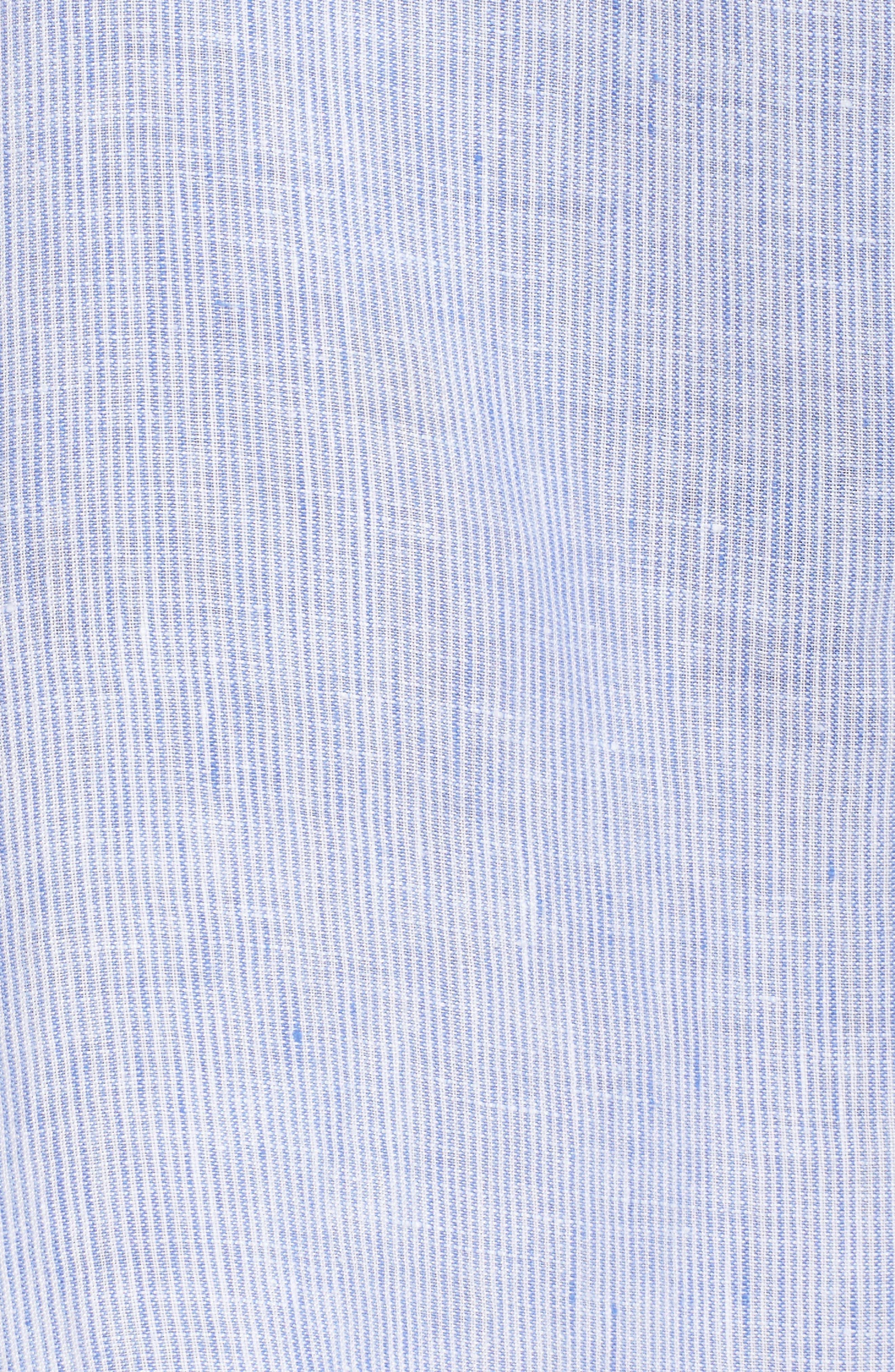 Alternate Image 5  - Pour Les Femmes Linen Shirtdress
