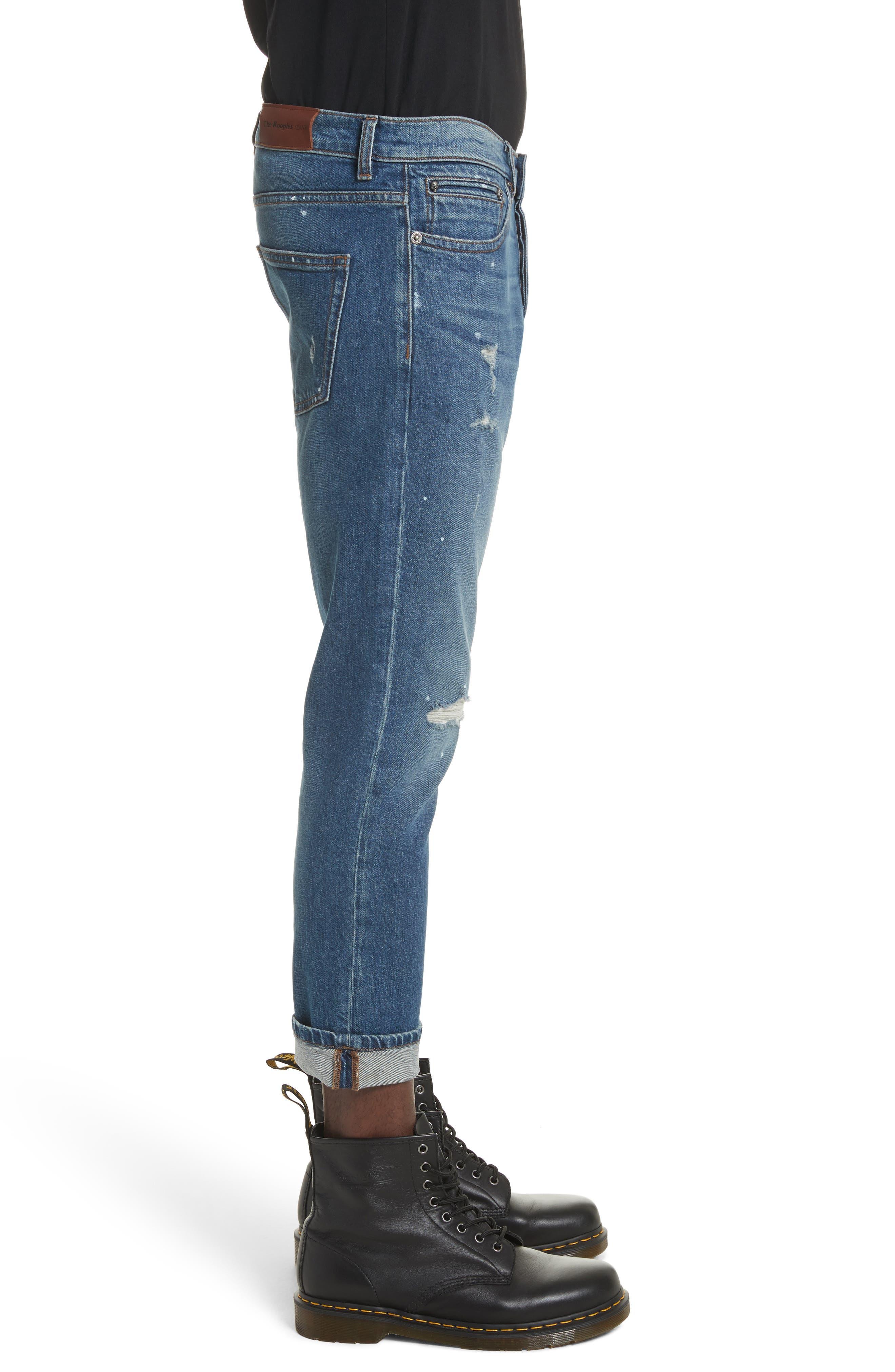 Cropped Jeans,                             Alternate thumbnail 3, color,                             Blue