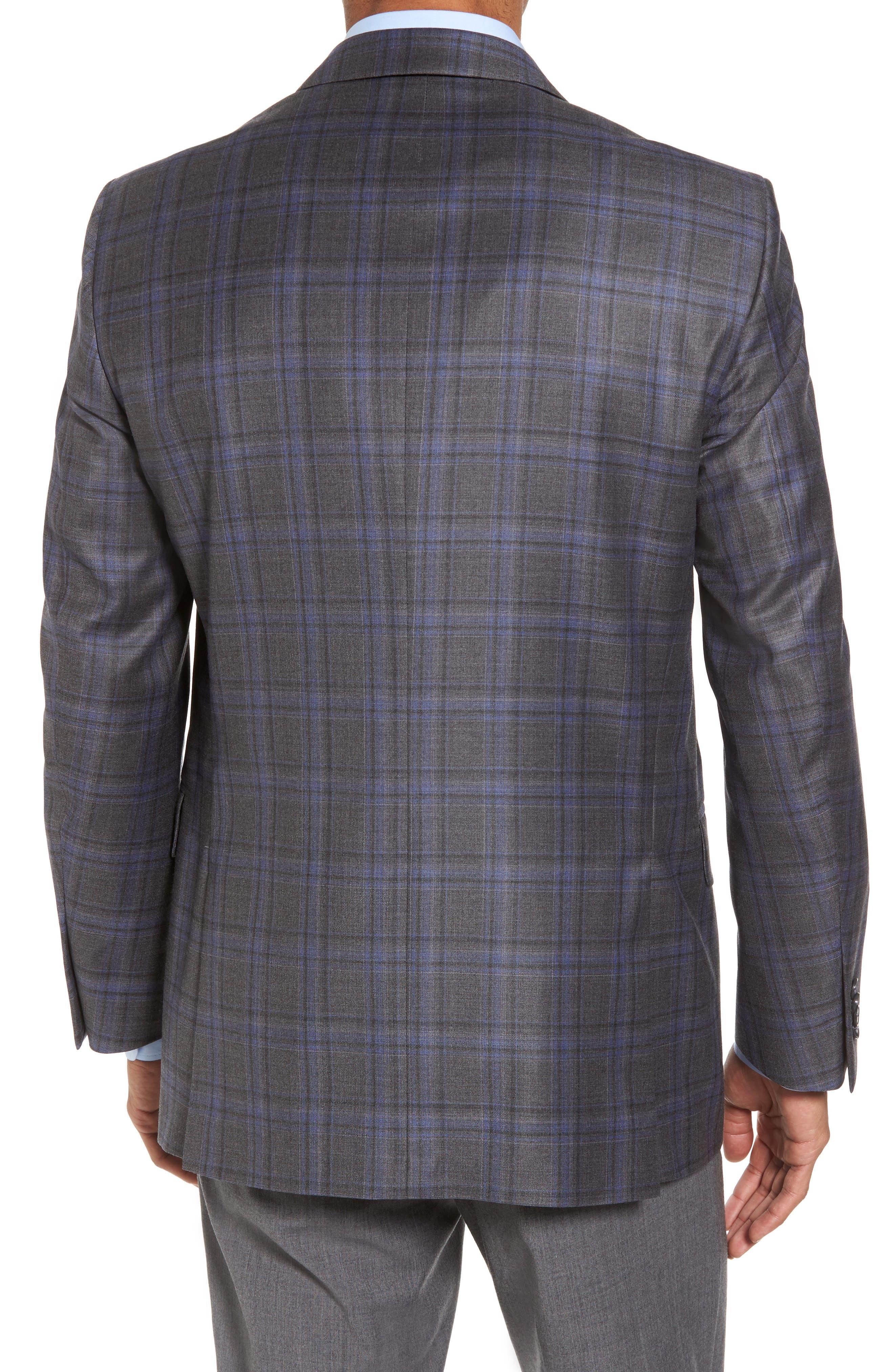 Alternate Image 2  - Peter Millar Classic Fit Plaid Wool Sport Coat