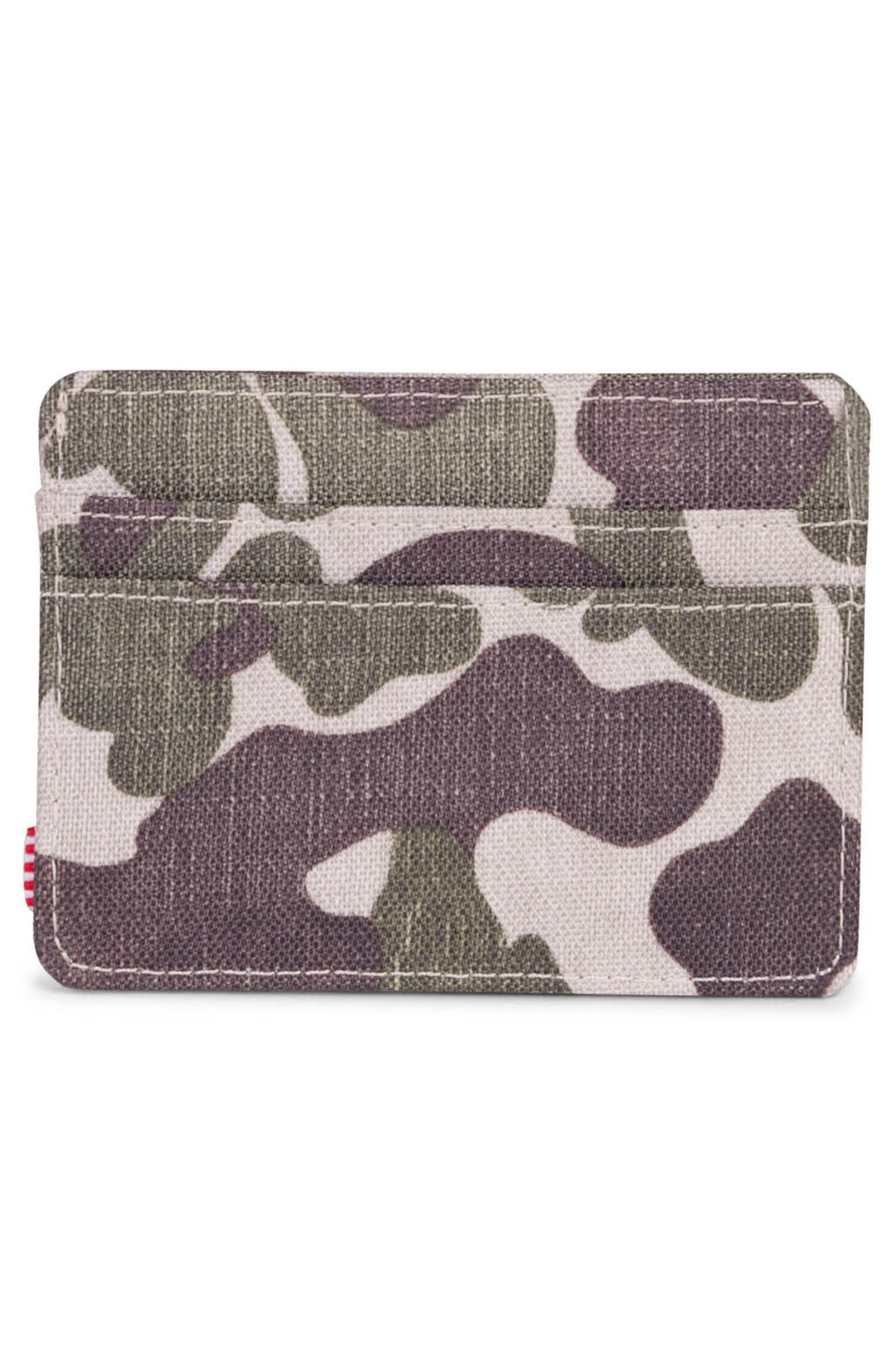 Charlie Card Case,                             Alternate thumbnail 2, color,                             Frog Camo