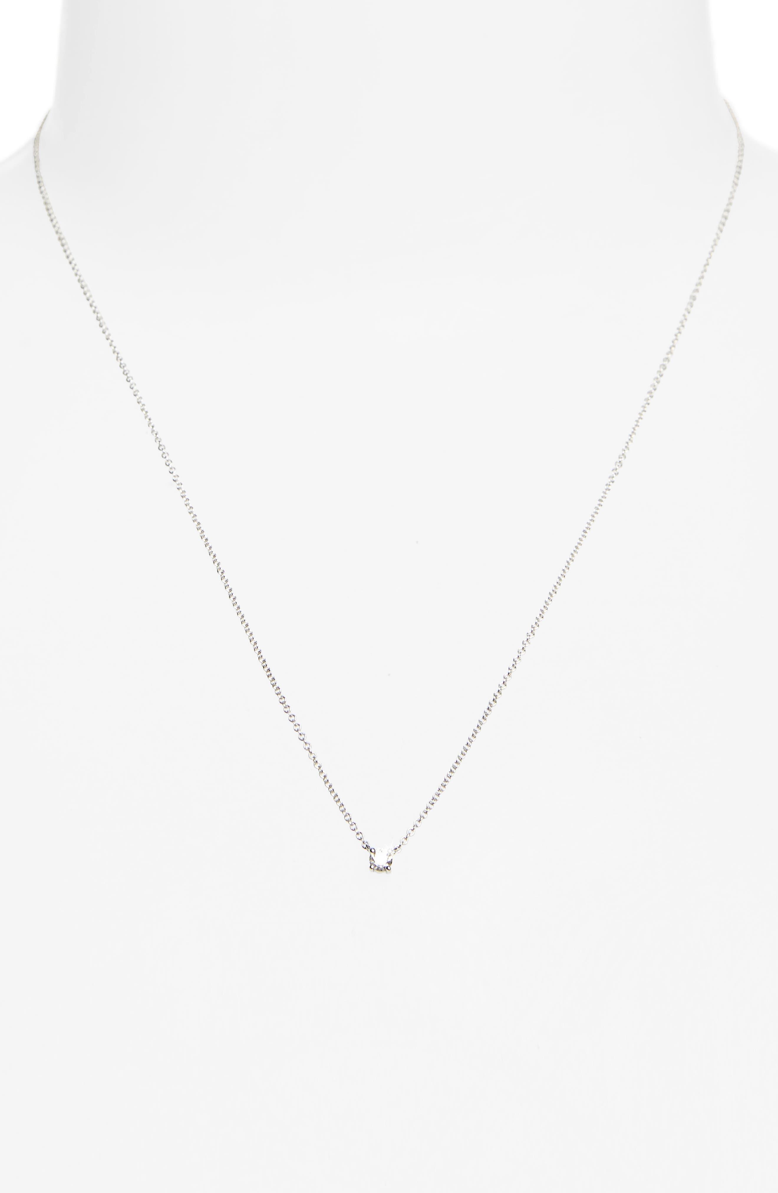 Alternate Image 2  - Bony Levy Liora Diamond Solitaire Pendant Necklace (Nordstrom Exclusive)