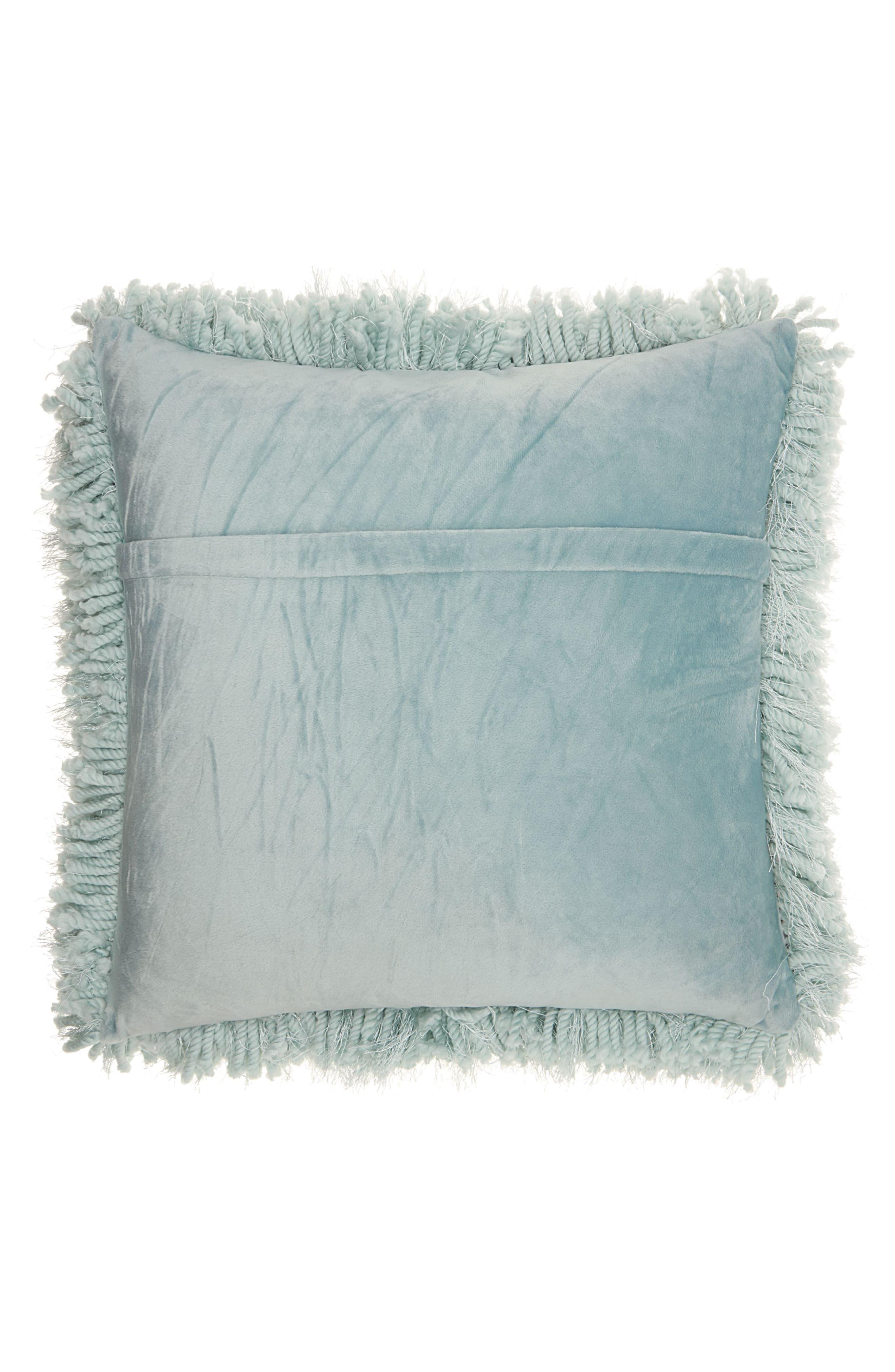 Shag Pillow,                             Alternate thumbnail 2, color,                             Celadon