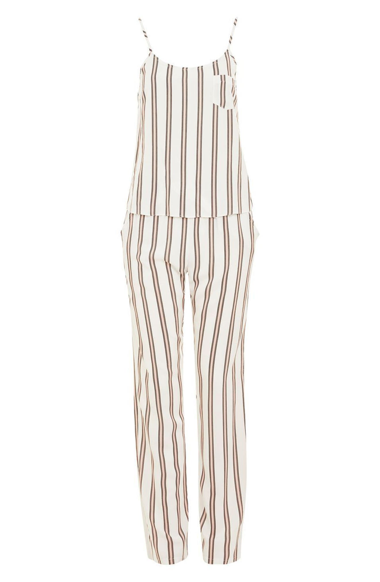 Alternate Image 3  - Topshop Spaced Stripe Pajamas