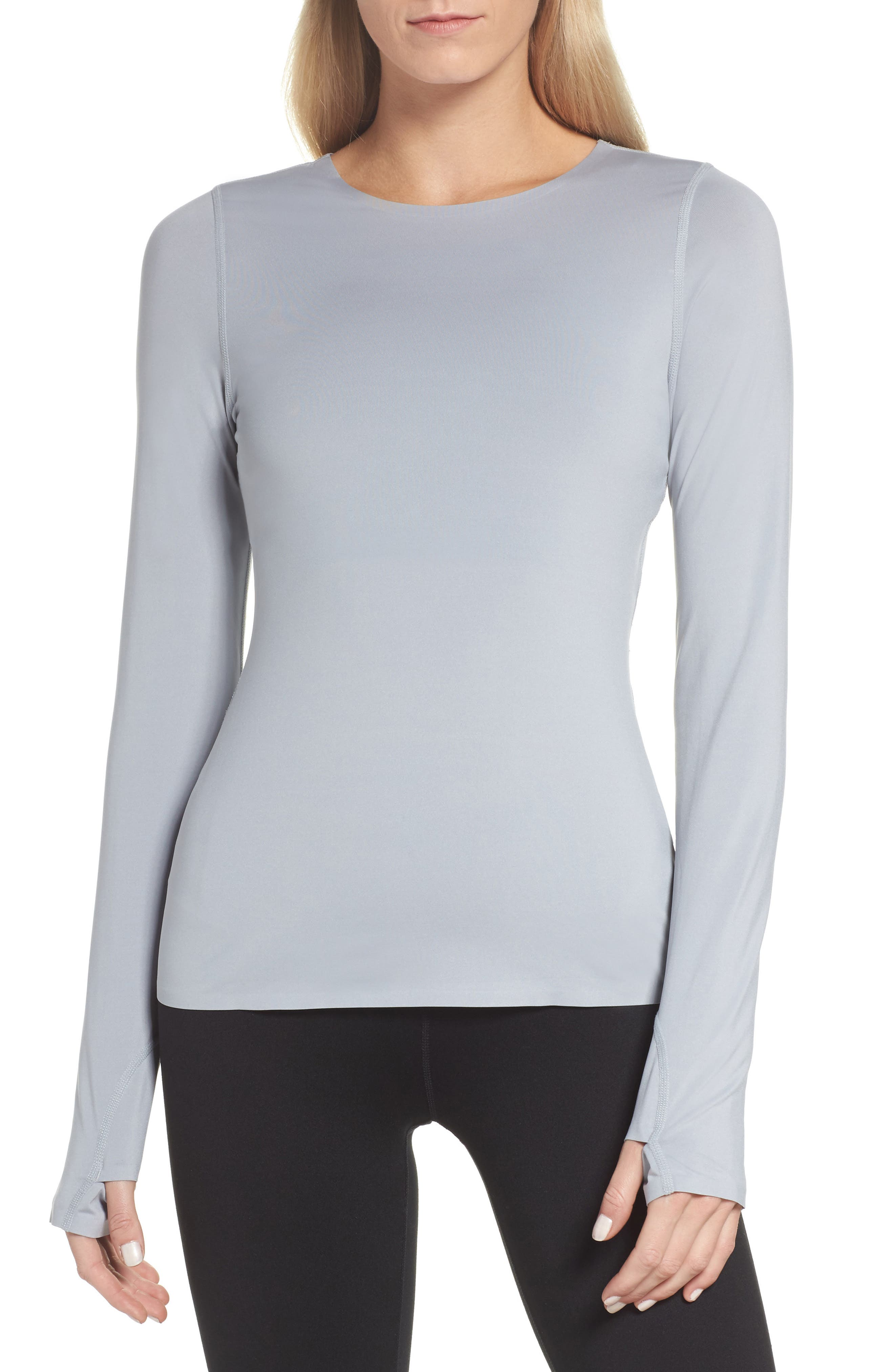 Realized Long Sleeve Tee,                         Main,                         color, Grey Wolf