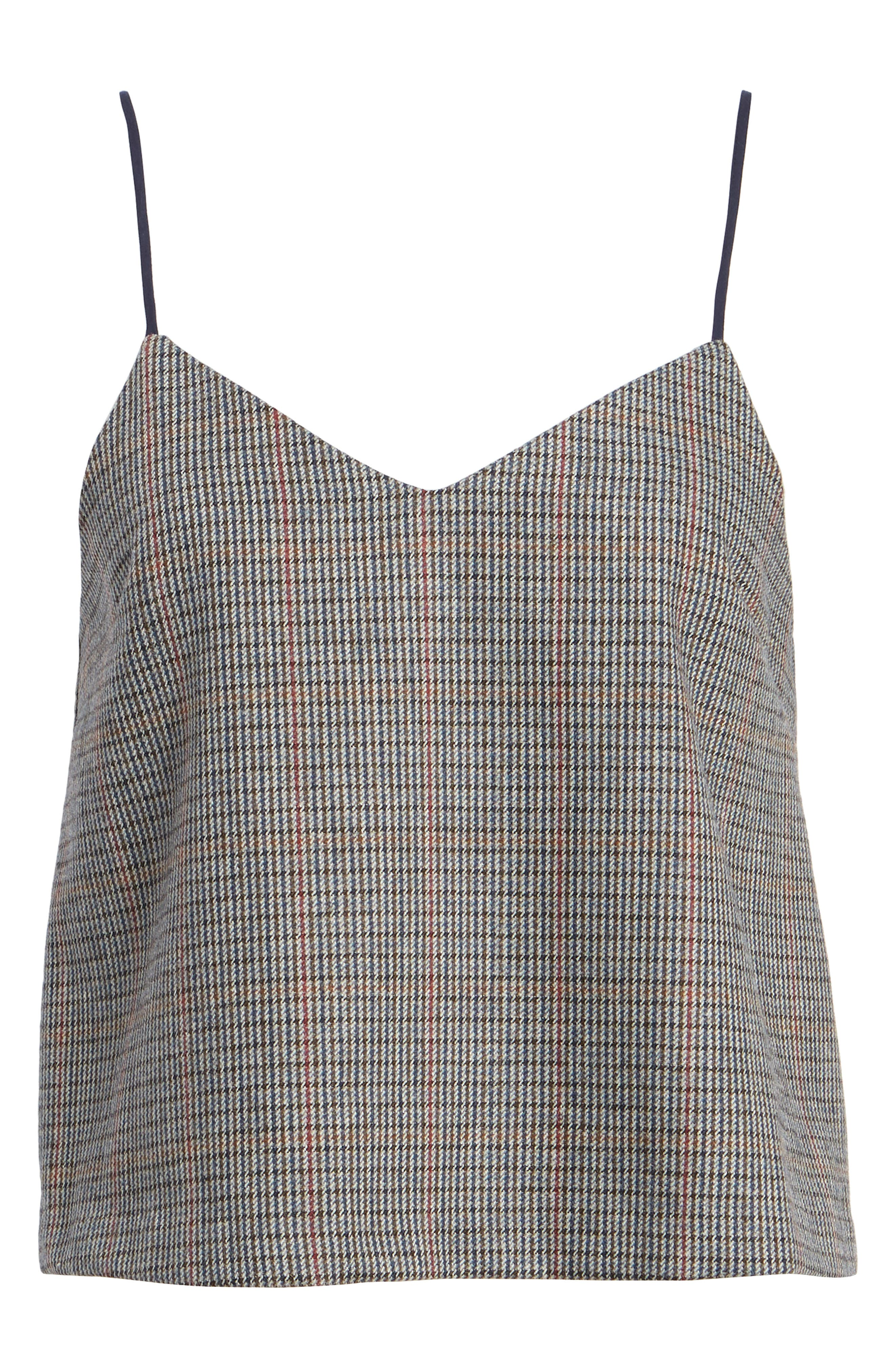 Plaid Camisole,                             Alternate thumbnail 6, color,                             Grey Plaid