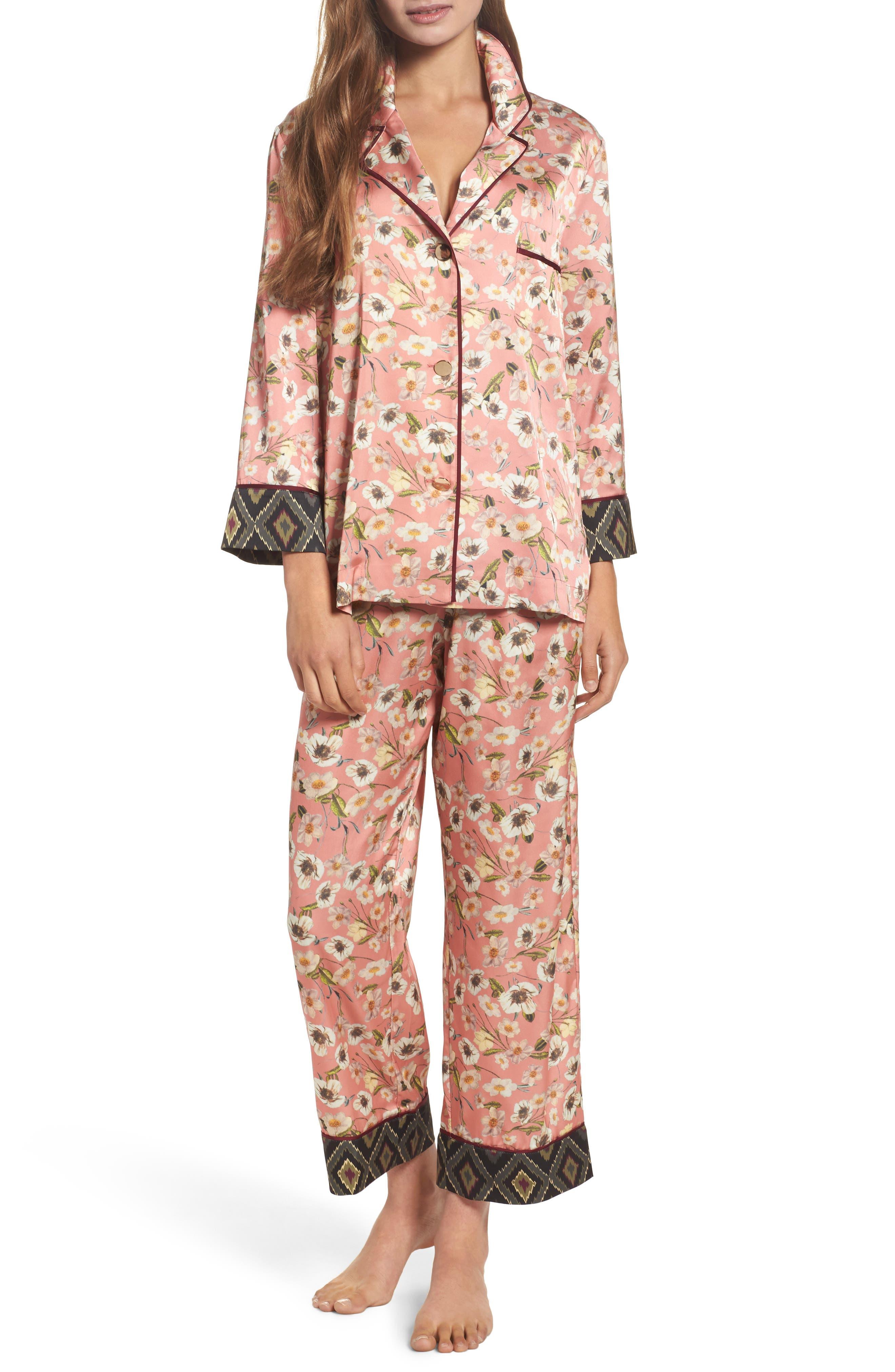 Print Pajamas,                         Main,                         color, Peach