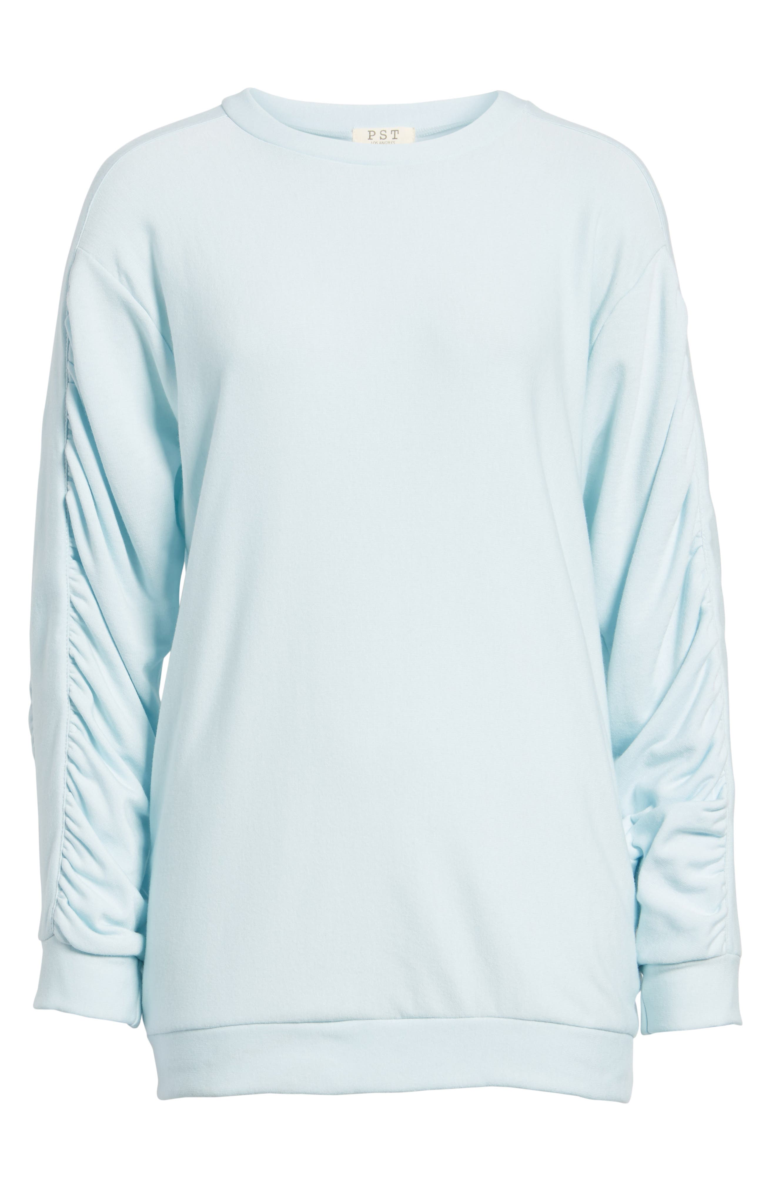 Alternate Image 6  - PST by Project Social T Ruched Sleeve Sweatshirt