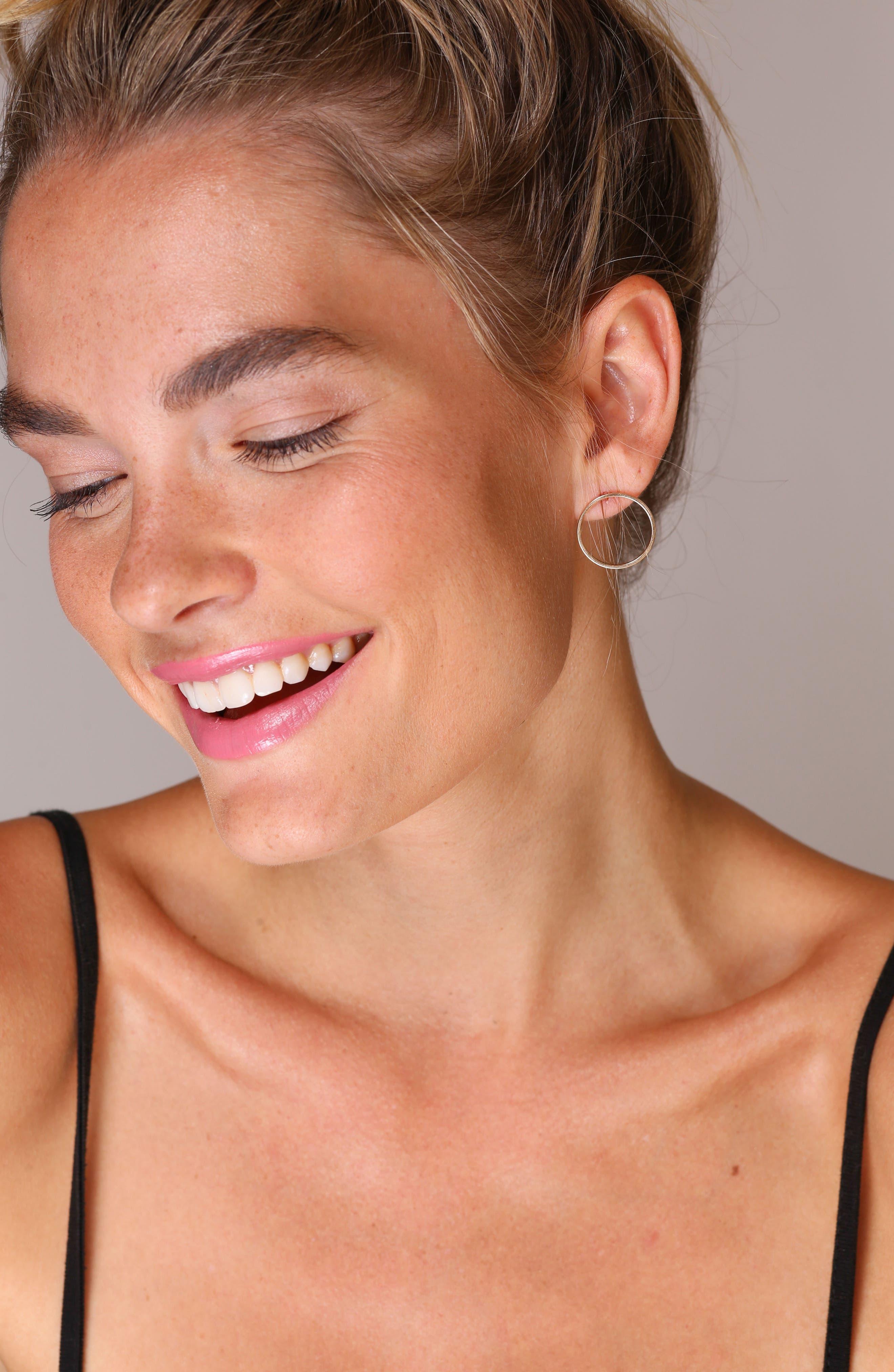 Juliette Circle Earrings,                             Alternate thumbnail 4, color,                             Gold