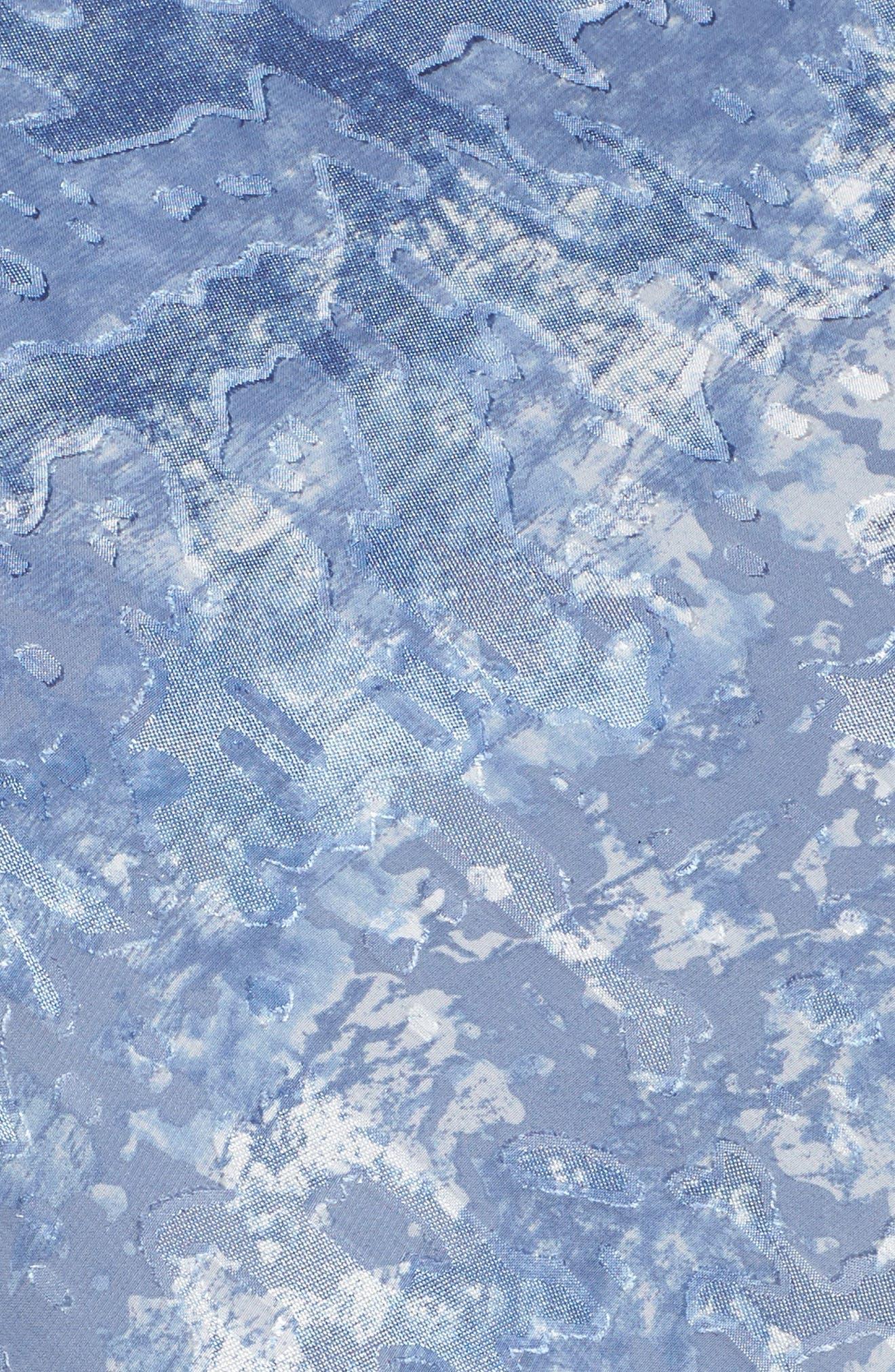 Alex Eveeings Tiered Burnout Blouse,                             Alternate thumbnail 5, color,                             Antique Blue
