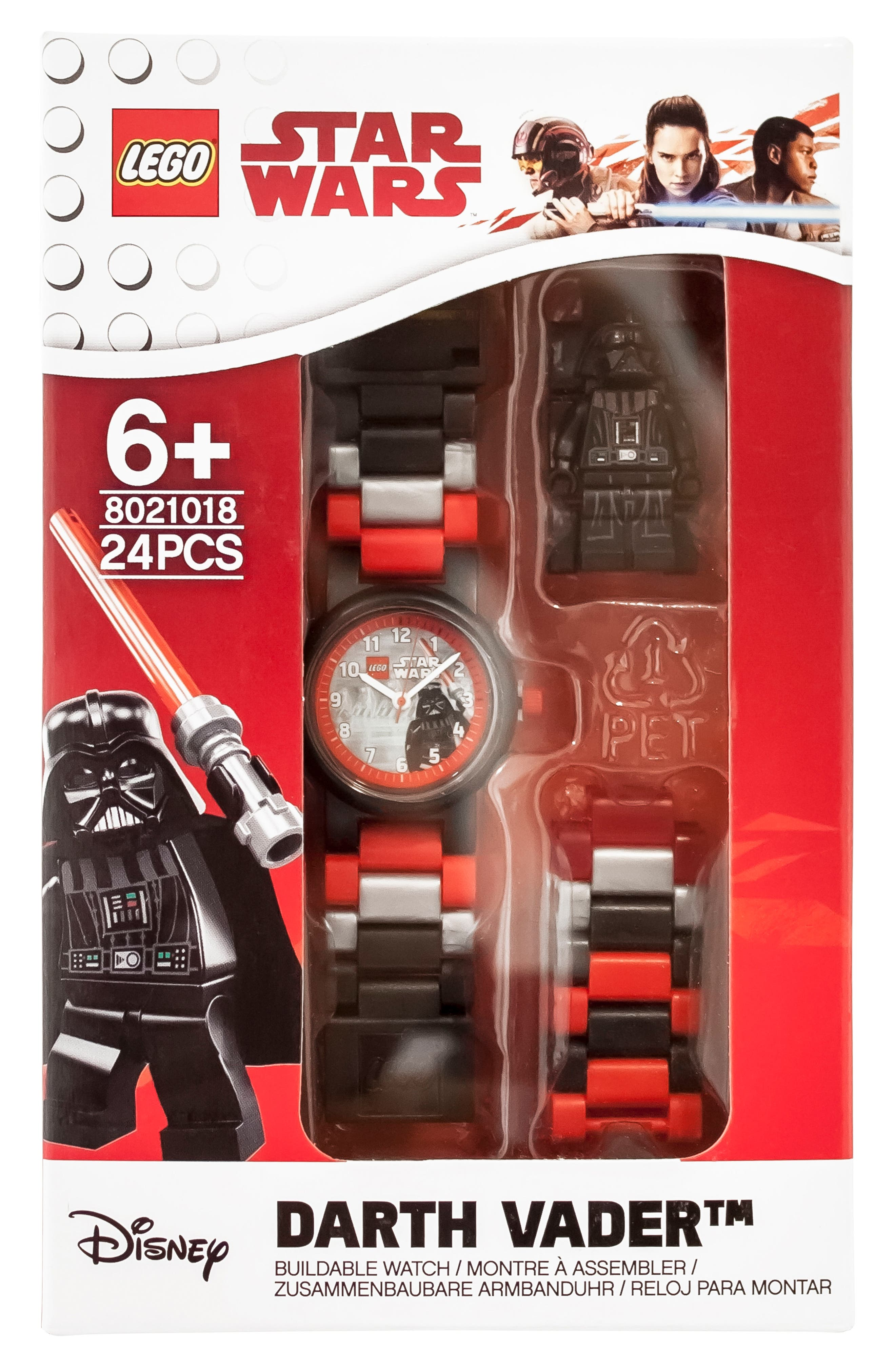 24-Piece Star Wars<sup>™</sup> Darth Vader Buildable Water-Resistant Watch,                             Alternate thumbnail 3, color,                             Black