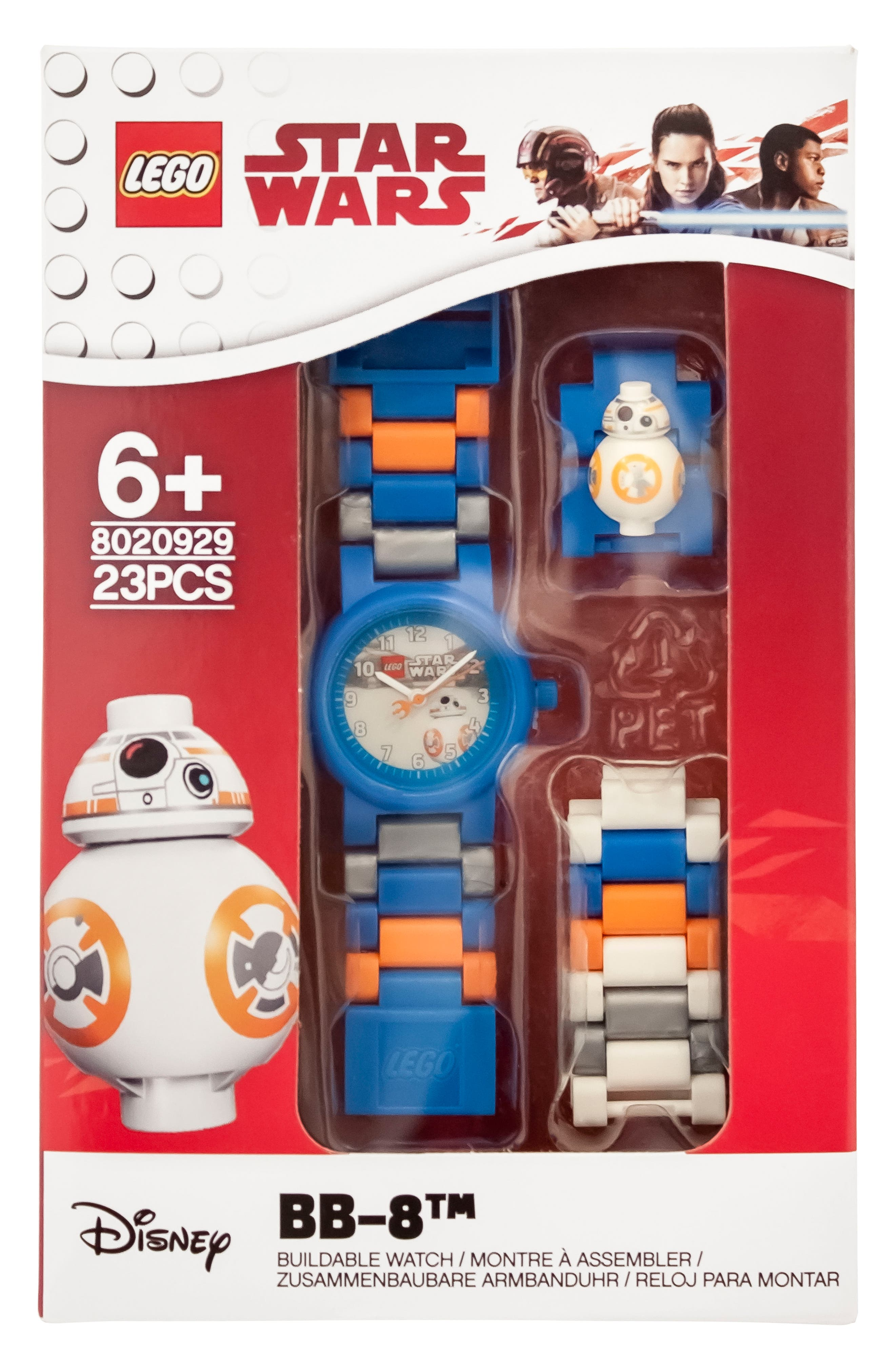 23-Piece Star Wars BB-8<sup>™</sup> Buildable Water-Resistant Watch,                             Alternate thumbnail 3, color,                             Blue