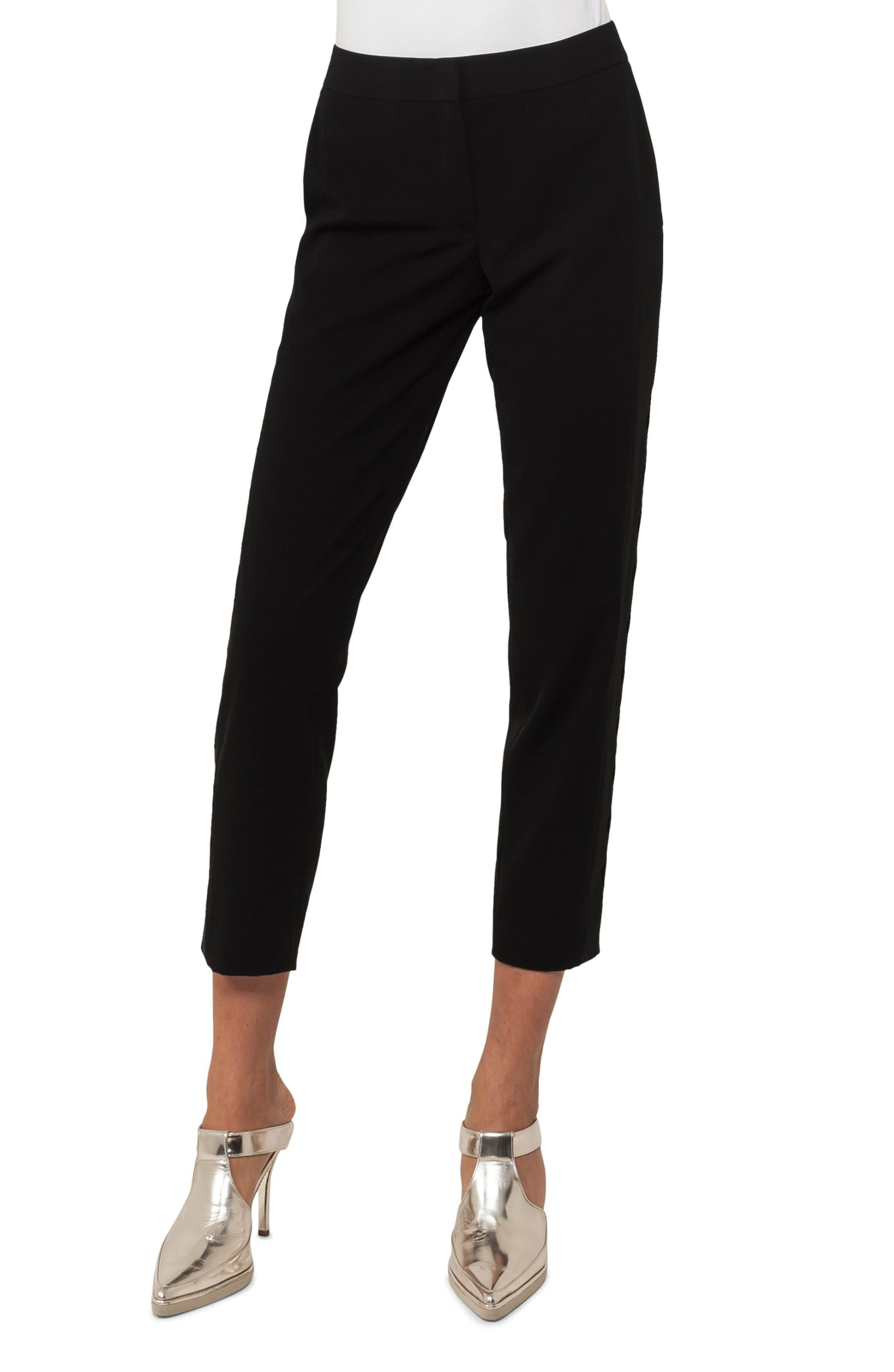 Fayola Semicircle Techno Pants,                         Main,                         color, Black